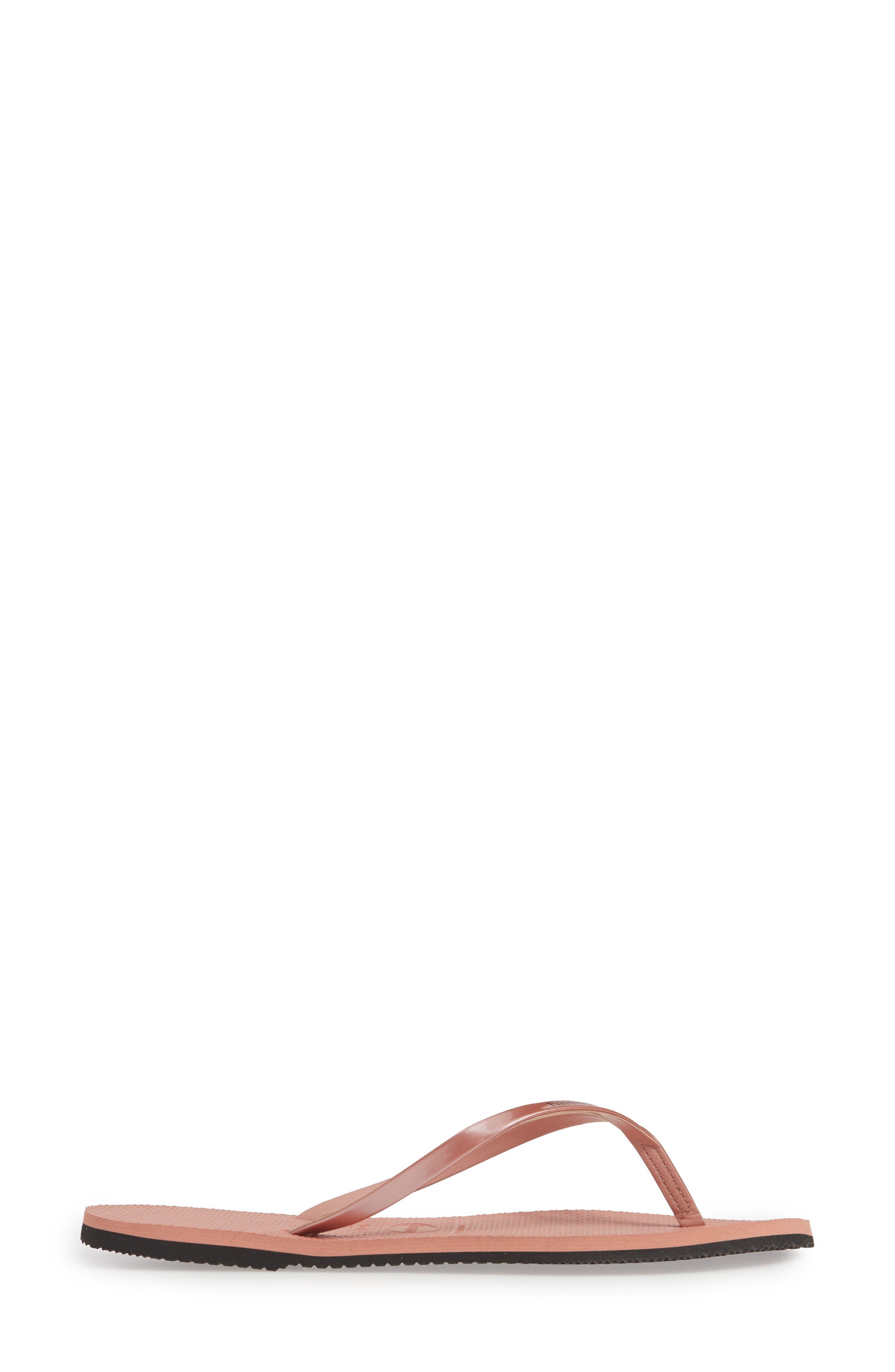HAVAIANAS, 'You' Flip Flop, Alternate thumbnail 4, color, ROSE NUDE