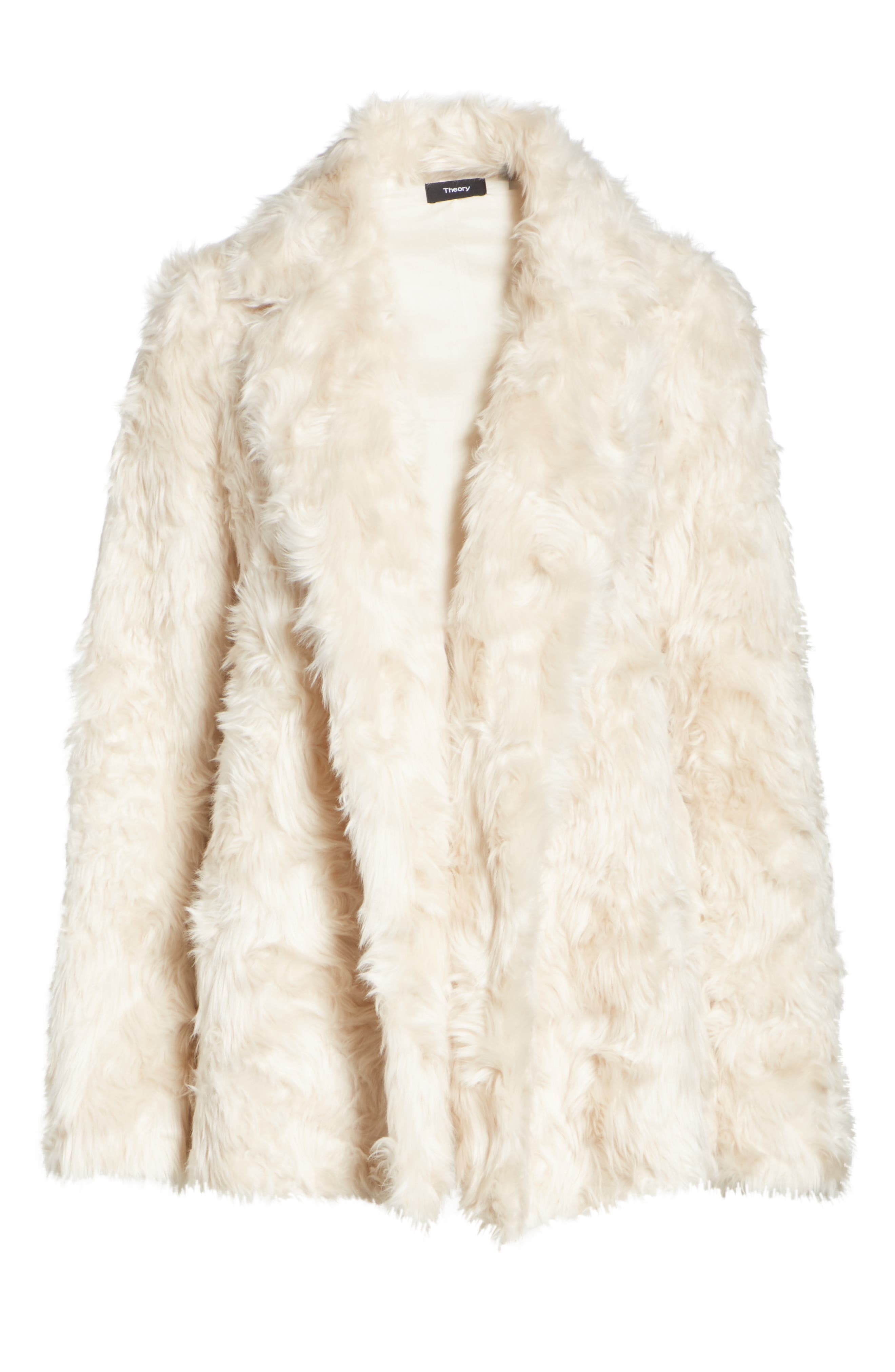 THEORY, Clairene Faux Fur Jacket, Alternate thumbnail 5, color, 907