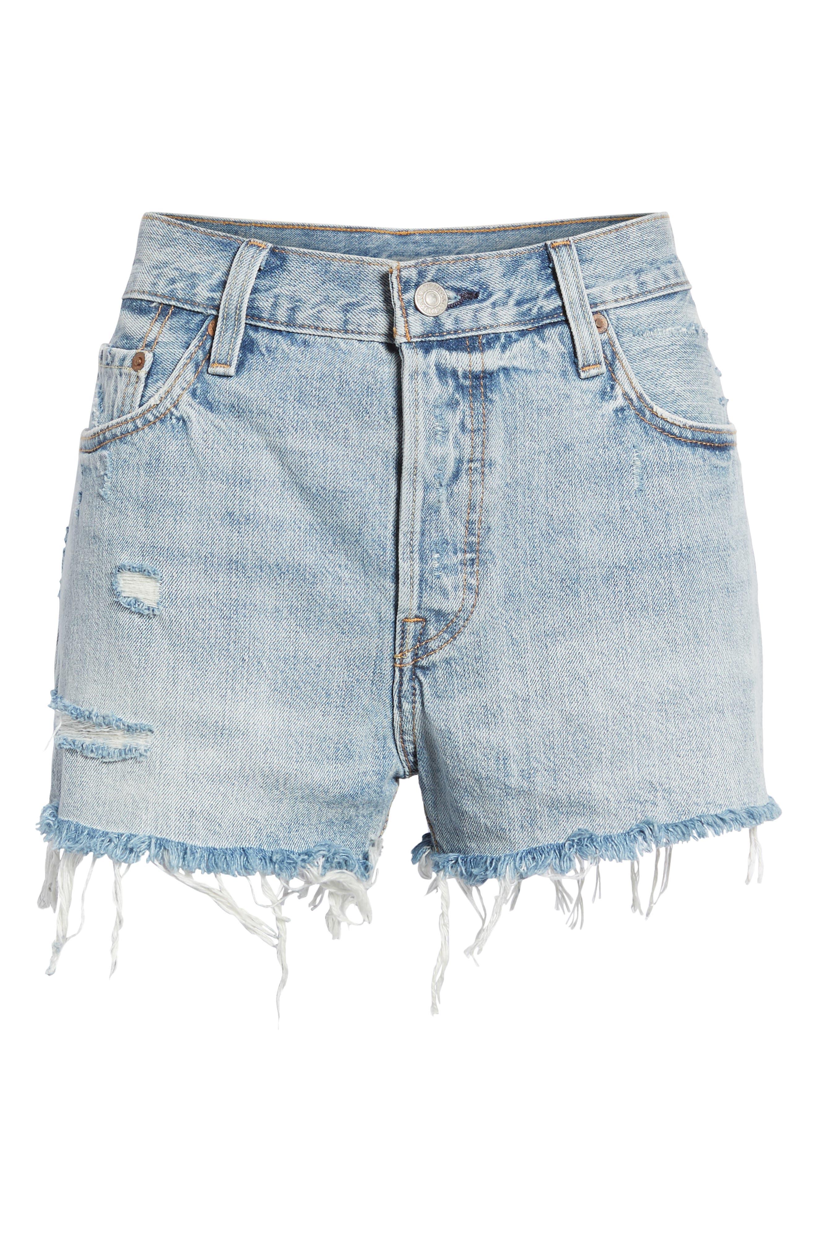 LEVI'S<SUP>®</SUP>, '501<sup>®</sup>' Cutoff Denim Shorts, Main thumbnail 1, color, 420