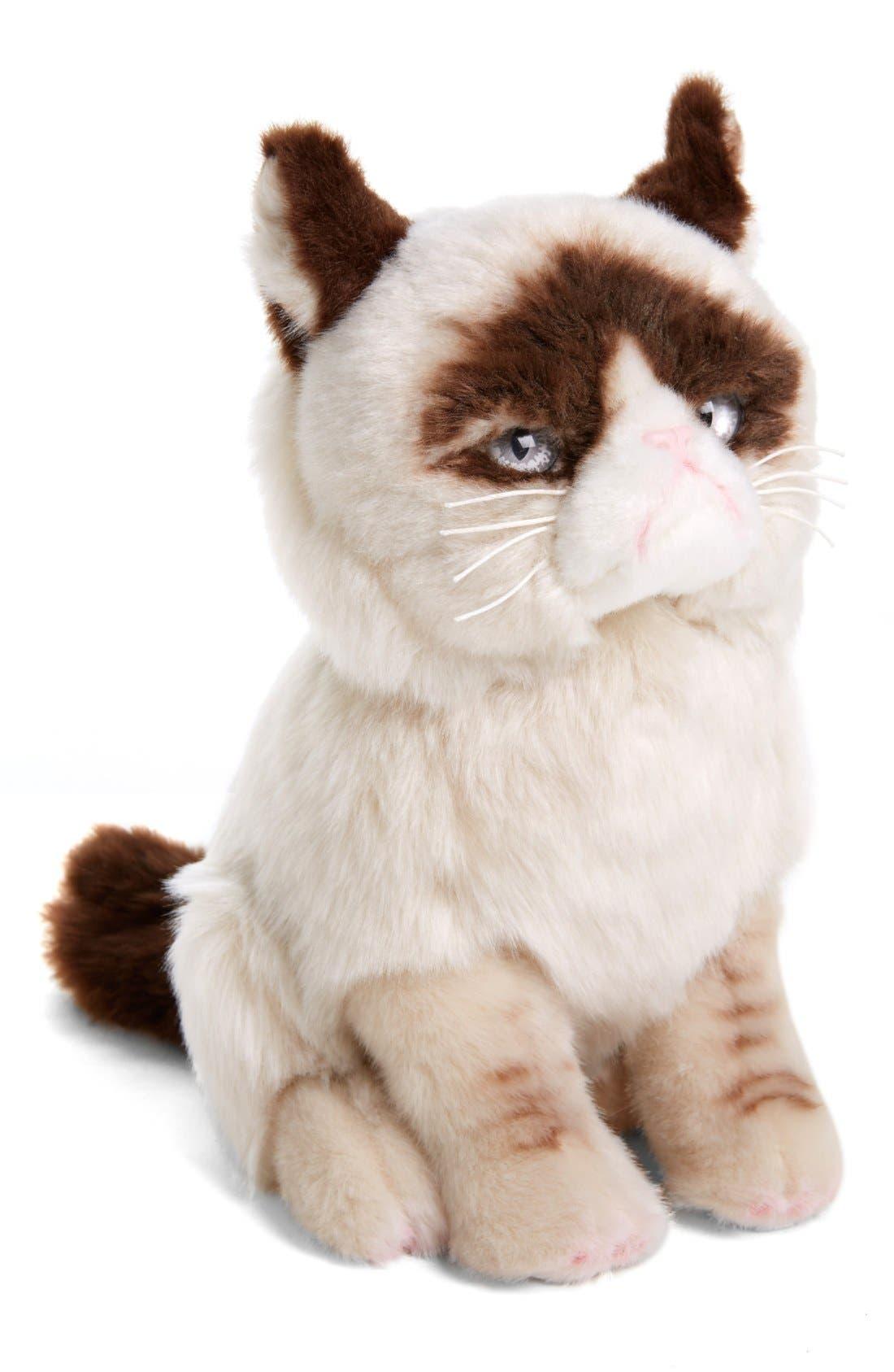 GUND, 'Grumpy Cat' Stuffed Animal, Alternate thumbnail 5, color, 000