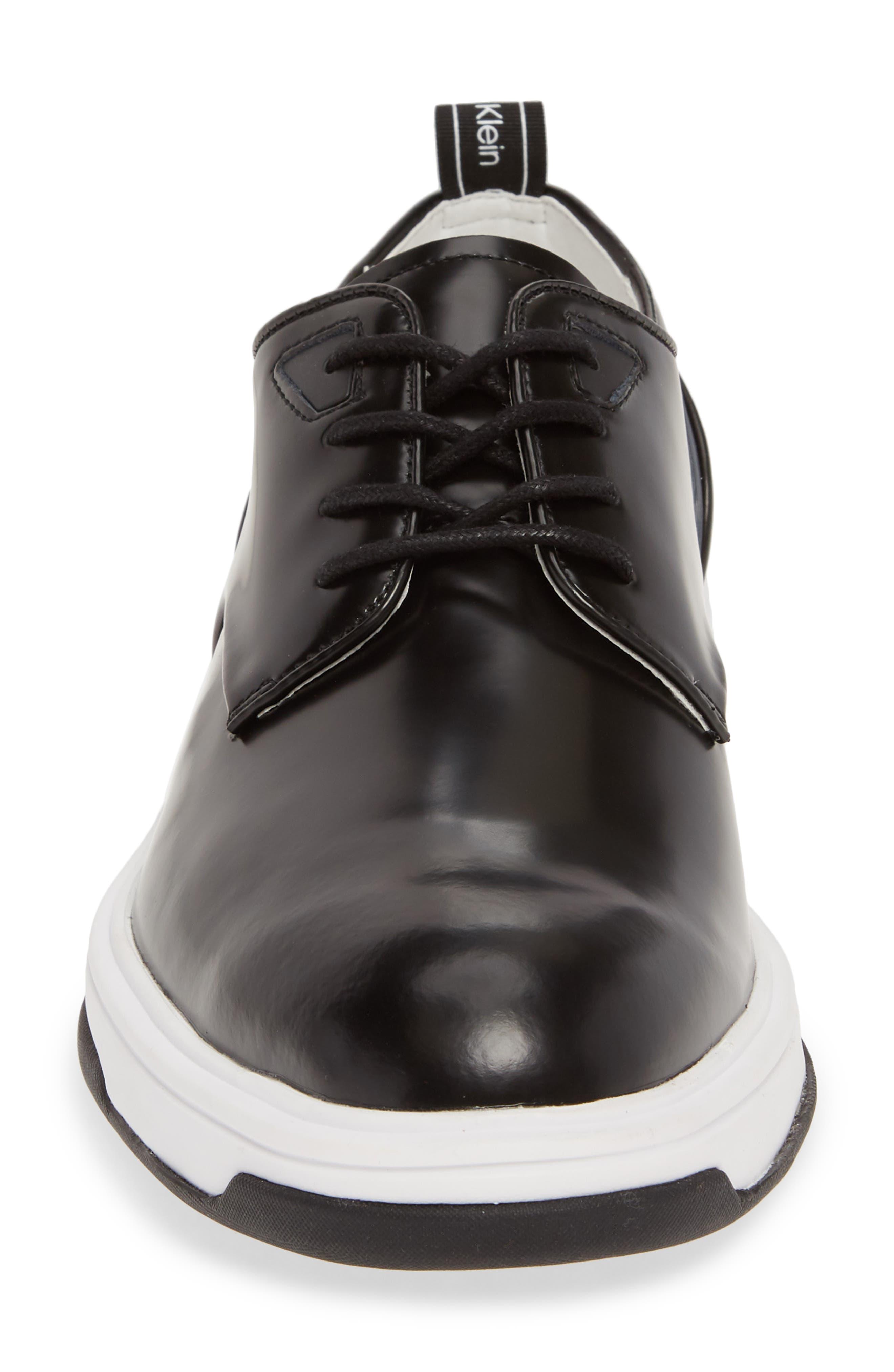 CALVIN KLEIN, Patsy Sneaker, Alternate thumbnail 4, color, BLACK