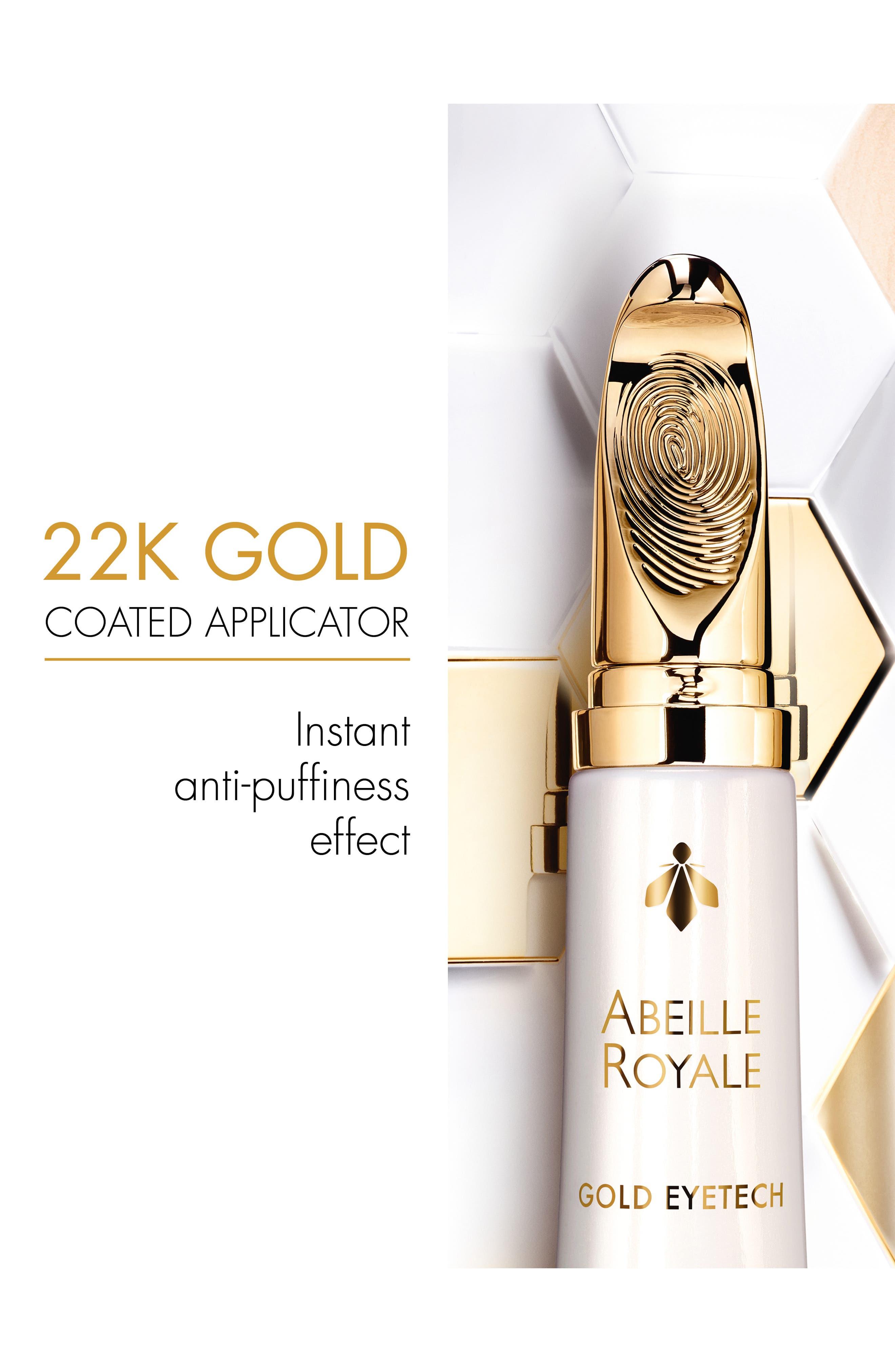 GUERLAIN, Abeille Royale - Gold Eyetech Eye Sculpt Serum, Alternate thumbnail 6, color, NO COLOR