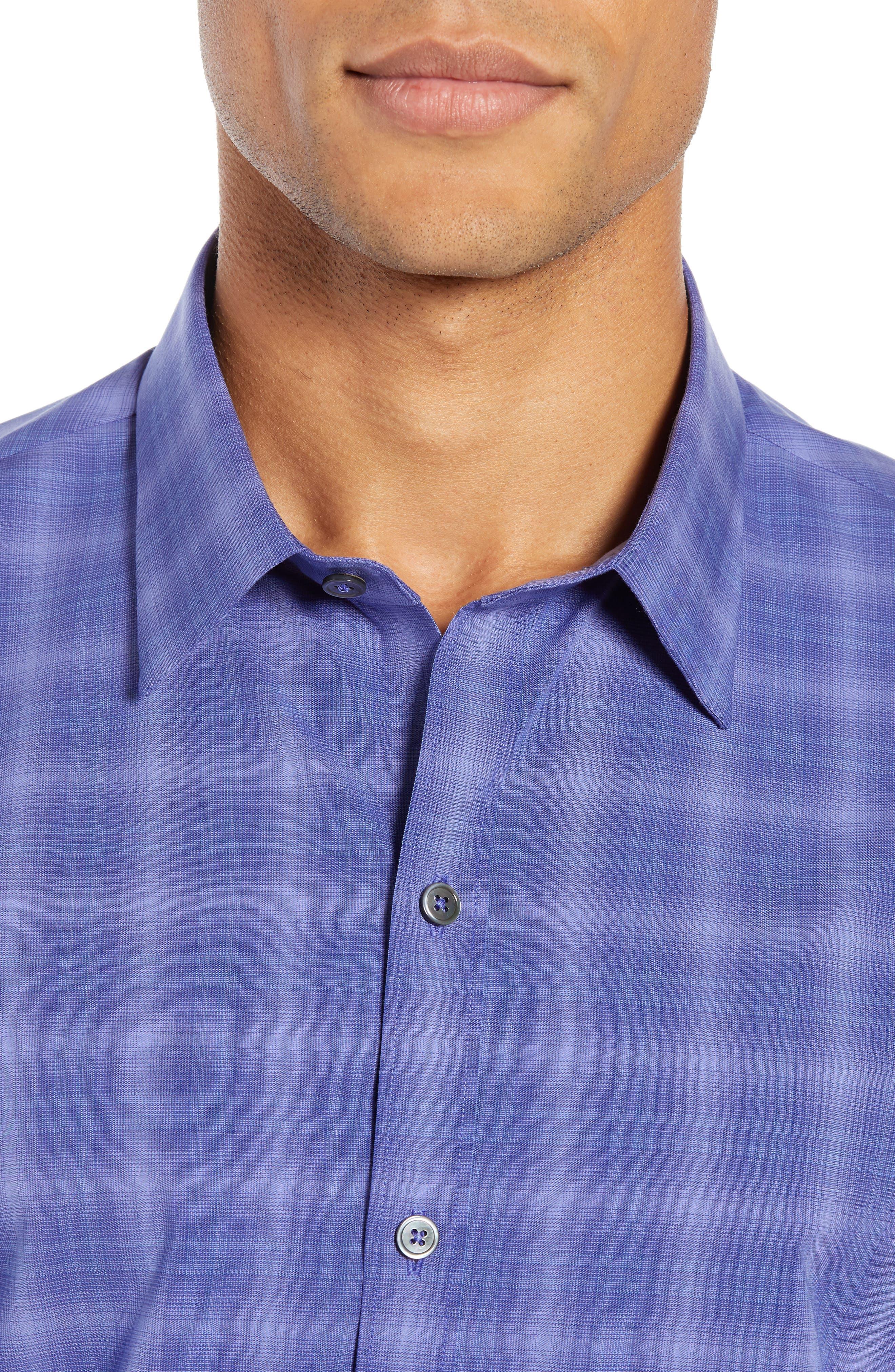 ZACHARY PRELL, Wandy Regular Fit Check Sport Shirt, Alternate thumbnail 2, color, LIGHT PURPLE