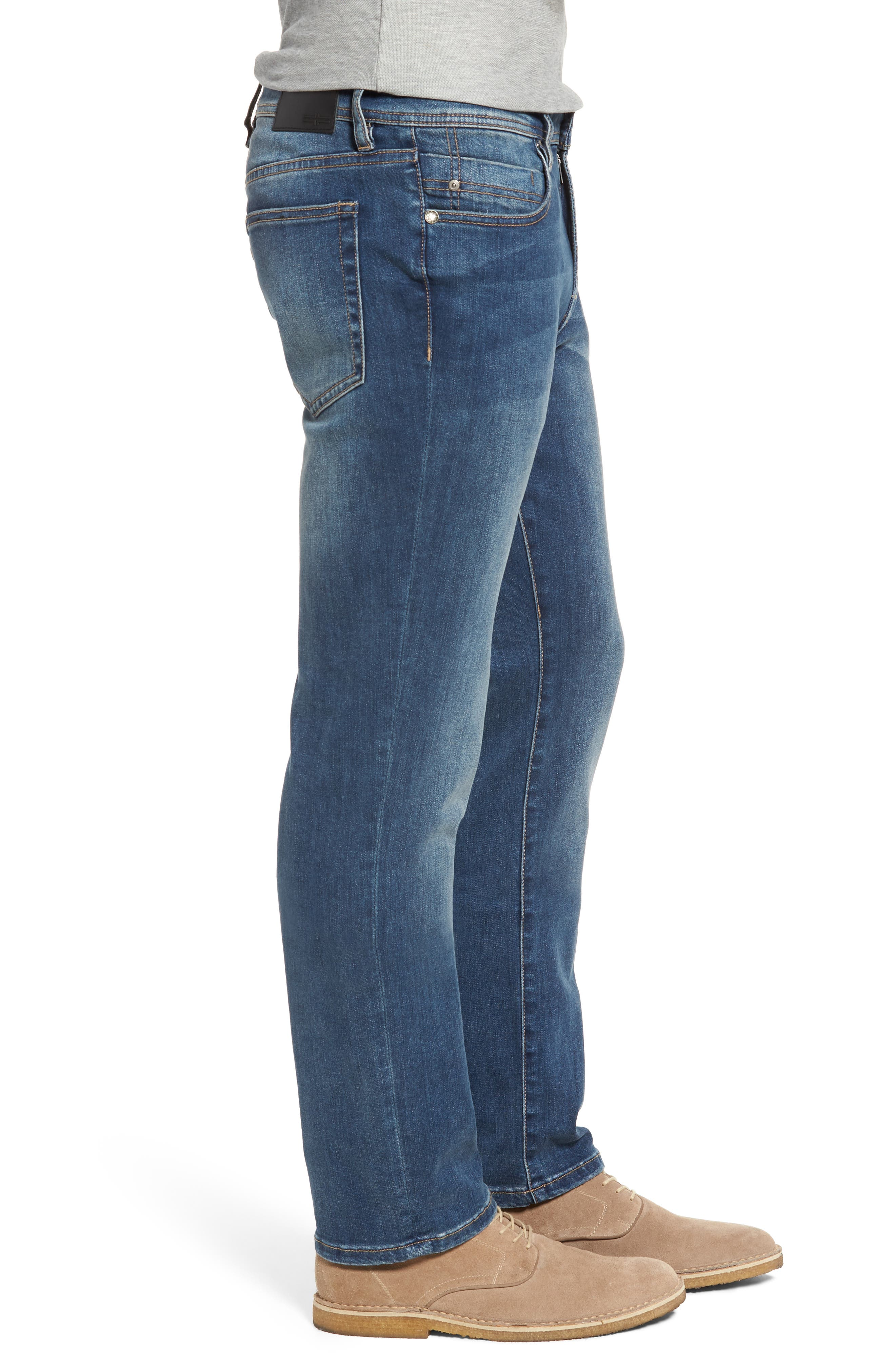 LIVERPOOL, Regent Relaxed Straight Leg Jeans, Alternate thumbnail 3, color, CHATSWORTH