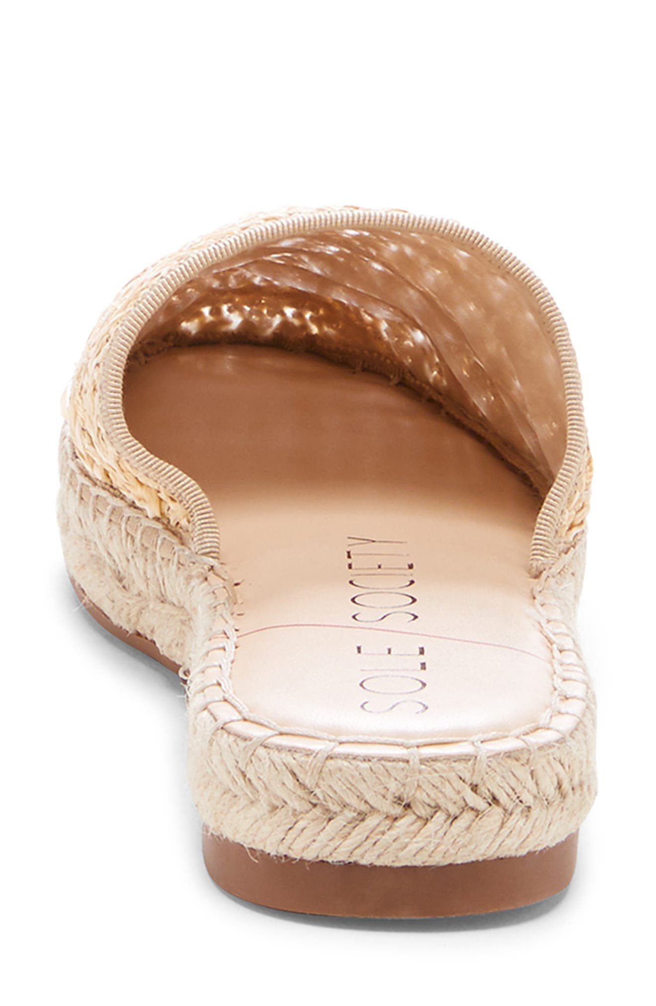 SOLE SOCIETY, Sadelle Espadrille Mule, Alternate thumbnail 7, color, NATURAL FABRIC