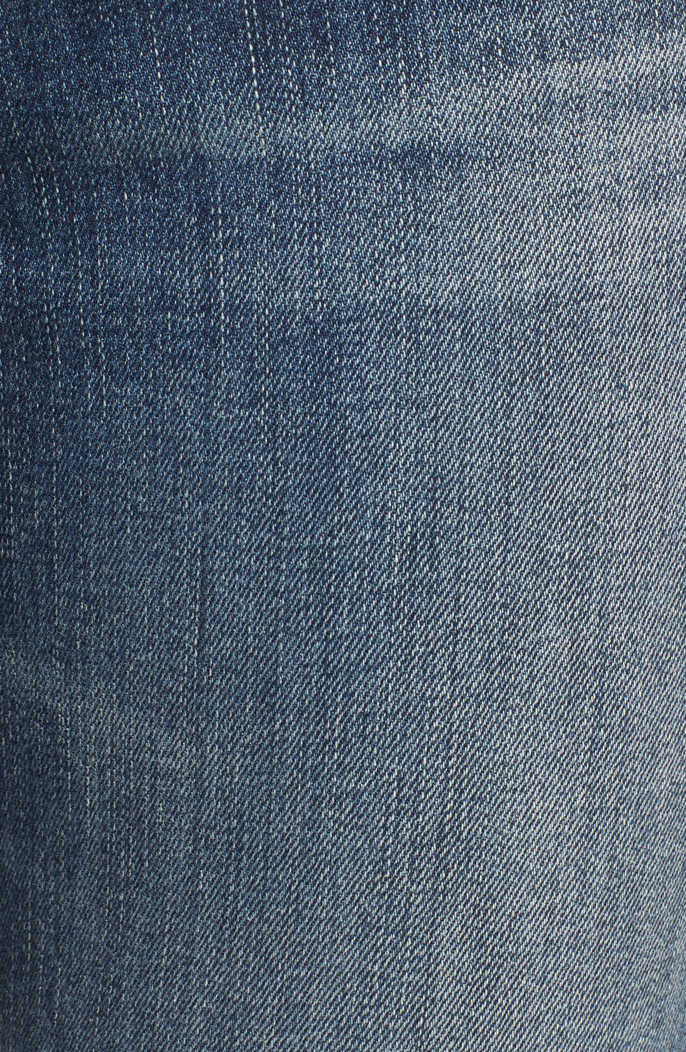 7 FOR ALL MANKIND<SUP>®</SUP>, The High Waist Ankle Skinny Jeans, Alternate thumbnail 6, color, 400
