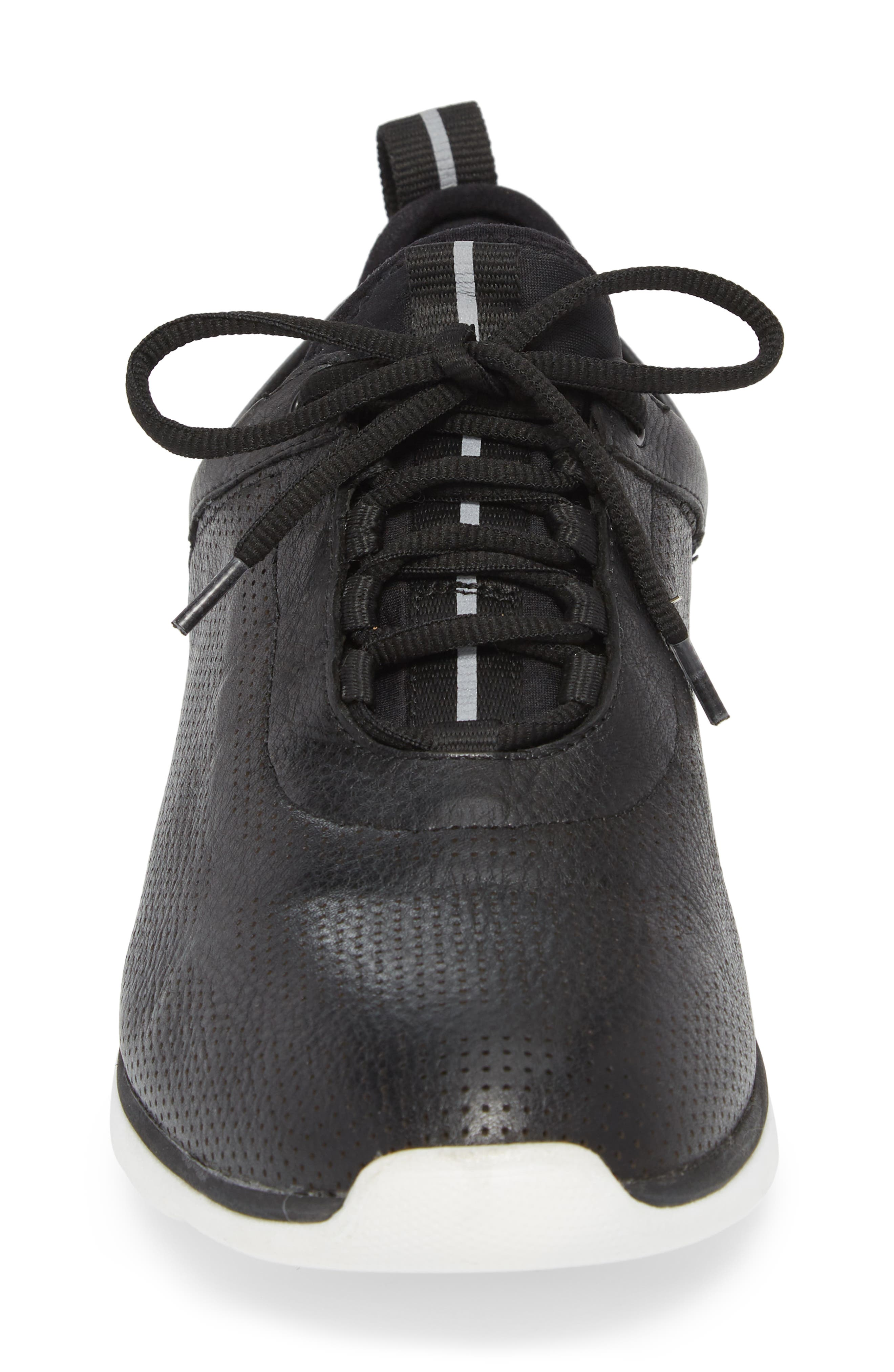 JOHNSTON & MURPHY, Prentiss XC4<sup>®</sup> Waterproof Sneaker, Alternate thumbnail 4, color, BLACK LEATHER