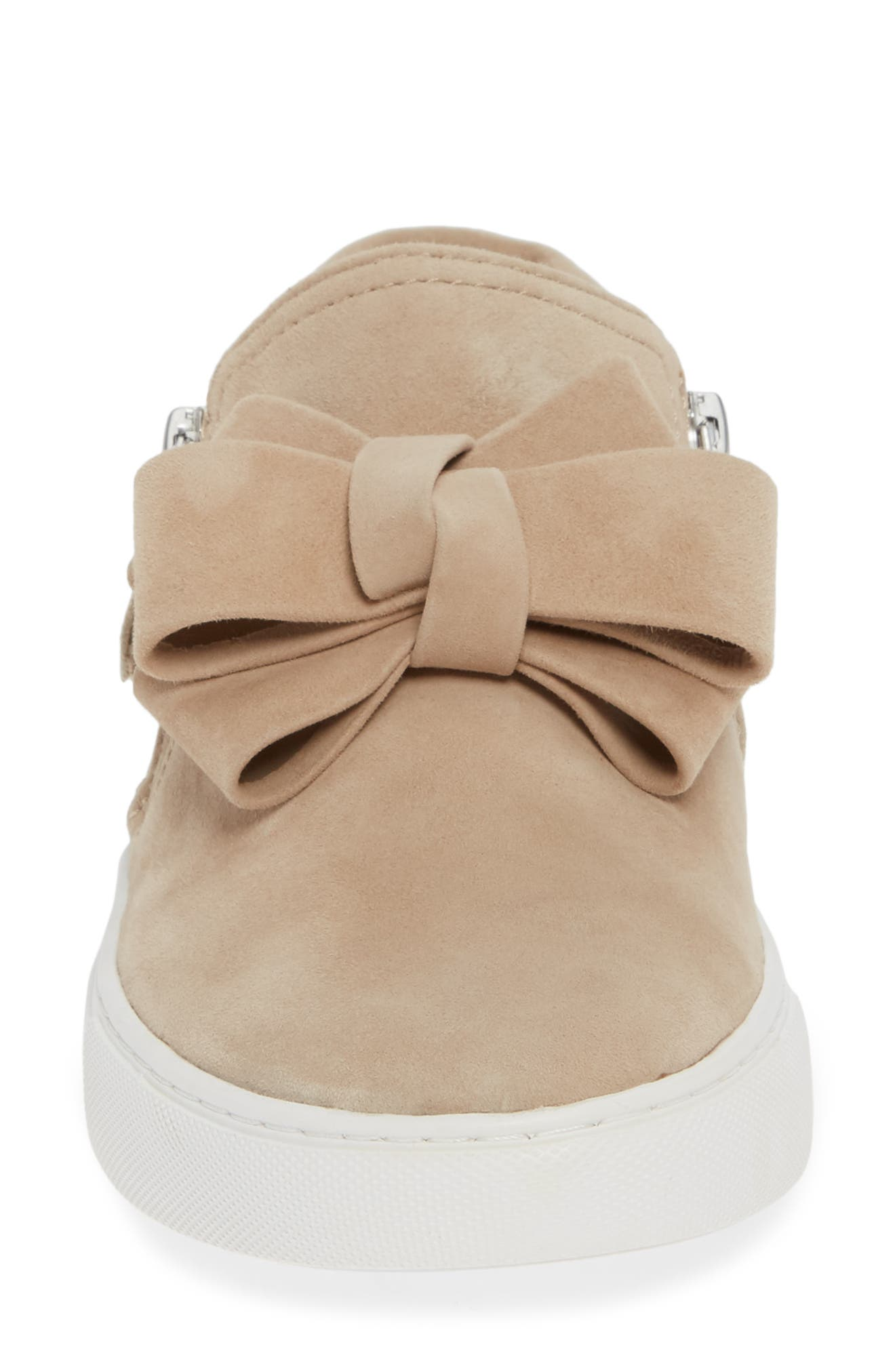 GENTLE SOULS BY KENNETH COLE, Lowe Bow Sneaker, Alternate thumbnail 4, color, CAFE SUEDE