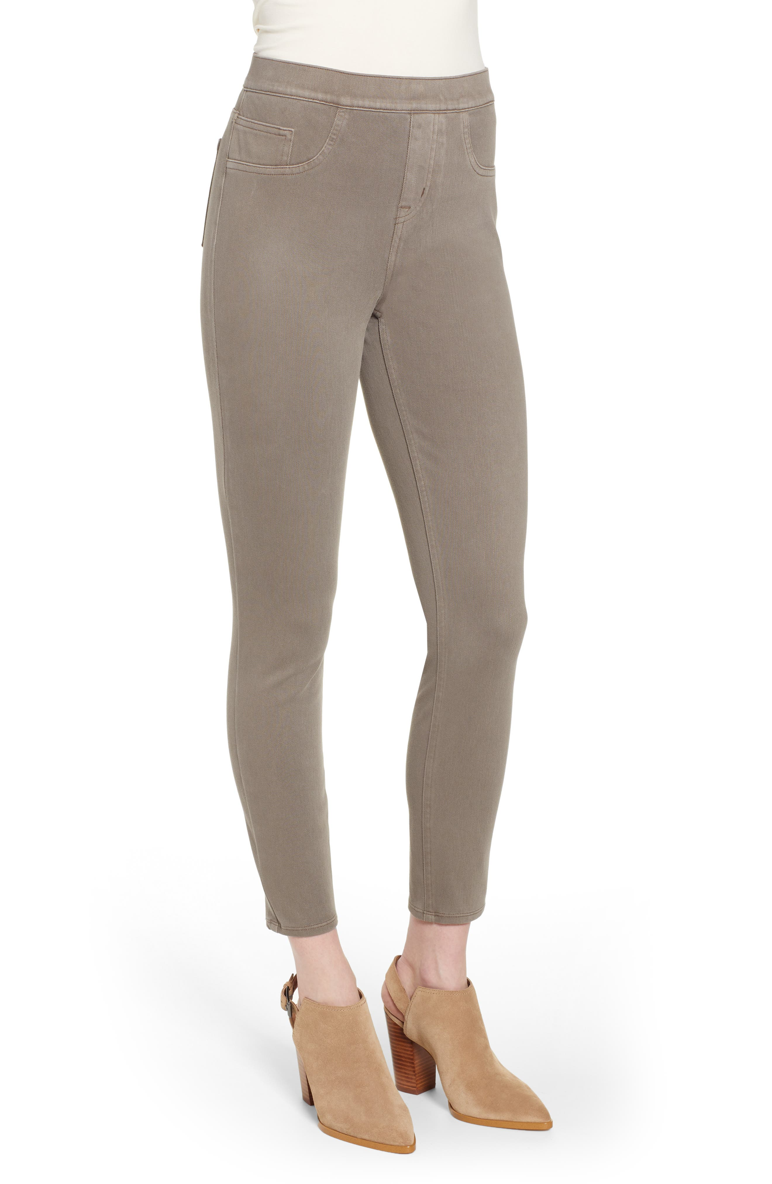 SPANX<SUP>®</SUP>, Jean-ish Leggings, Alternate thumbnail 4, color, EARTHY TAUPE