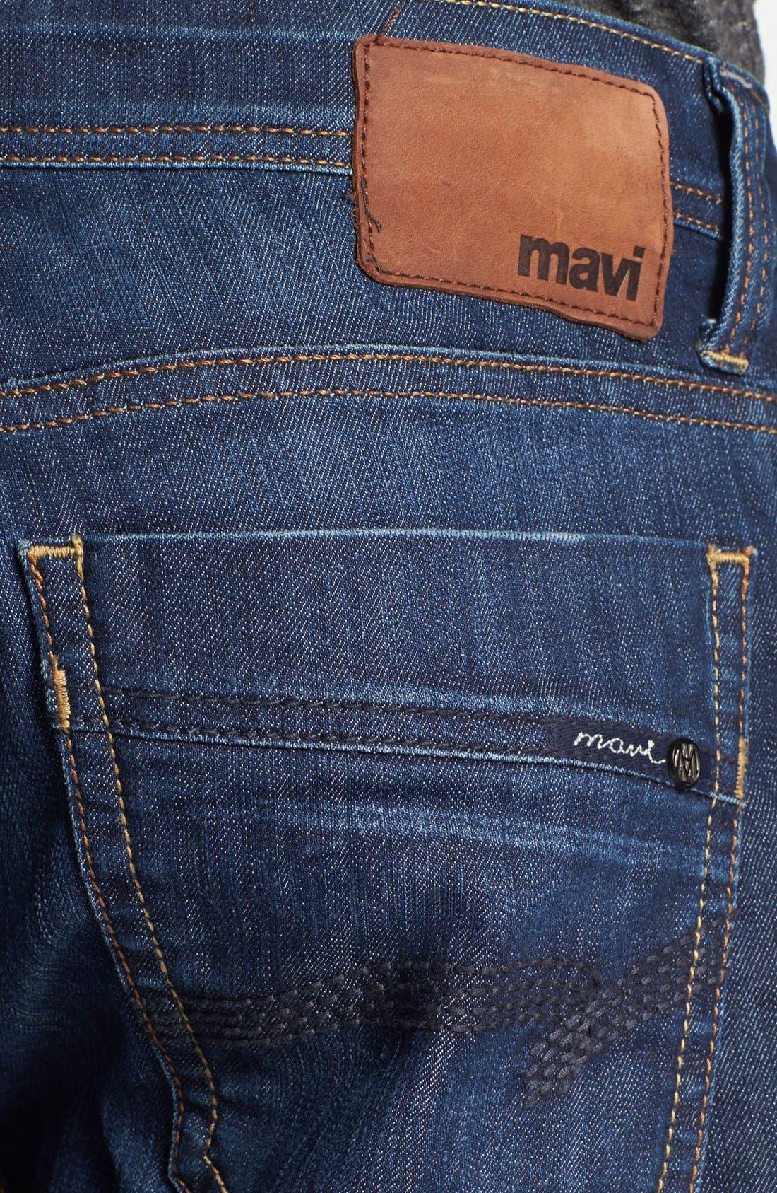 MAVI JEANS, Zach Straight Leg Jeans, Alternate thumbnail 9, color, DARK MAUI