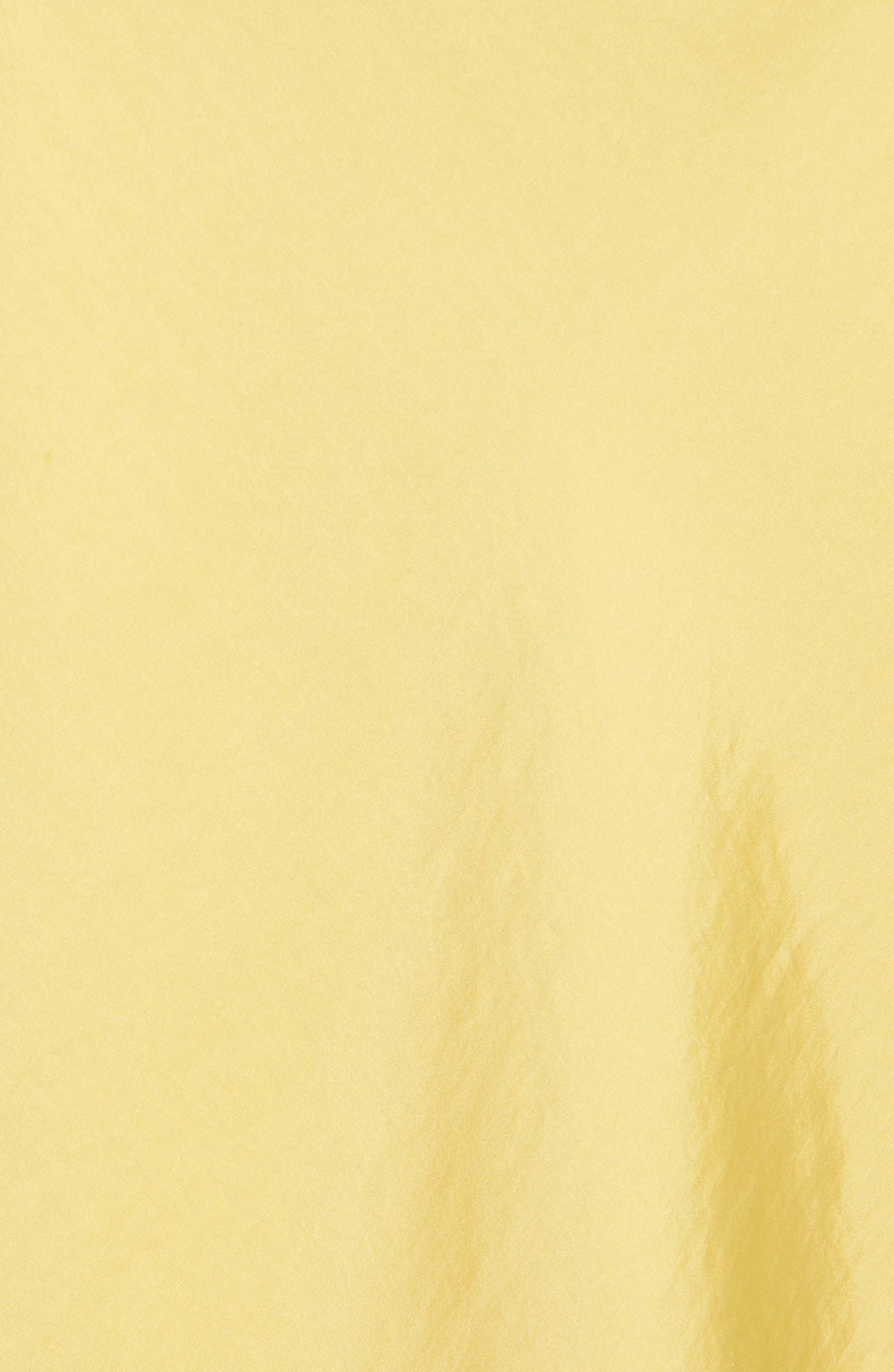 LEITH, Satin Midi Skirt, Alternate thumbnail 5, color, YELLOW MERINGUE