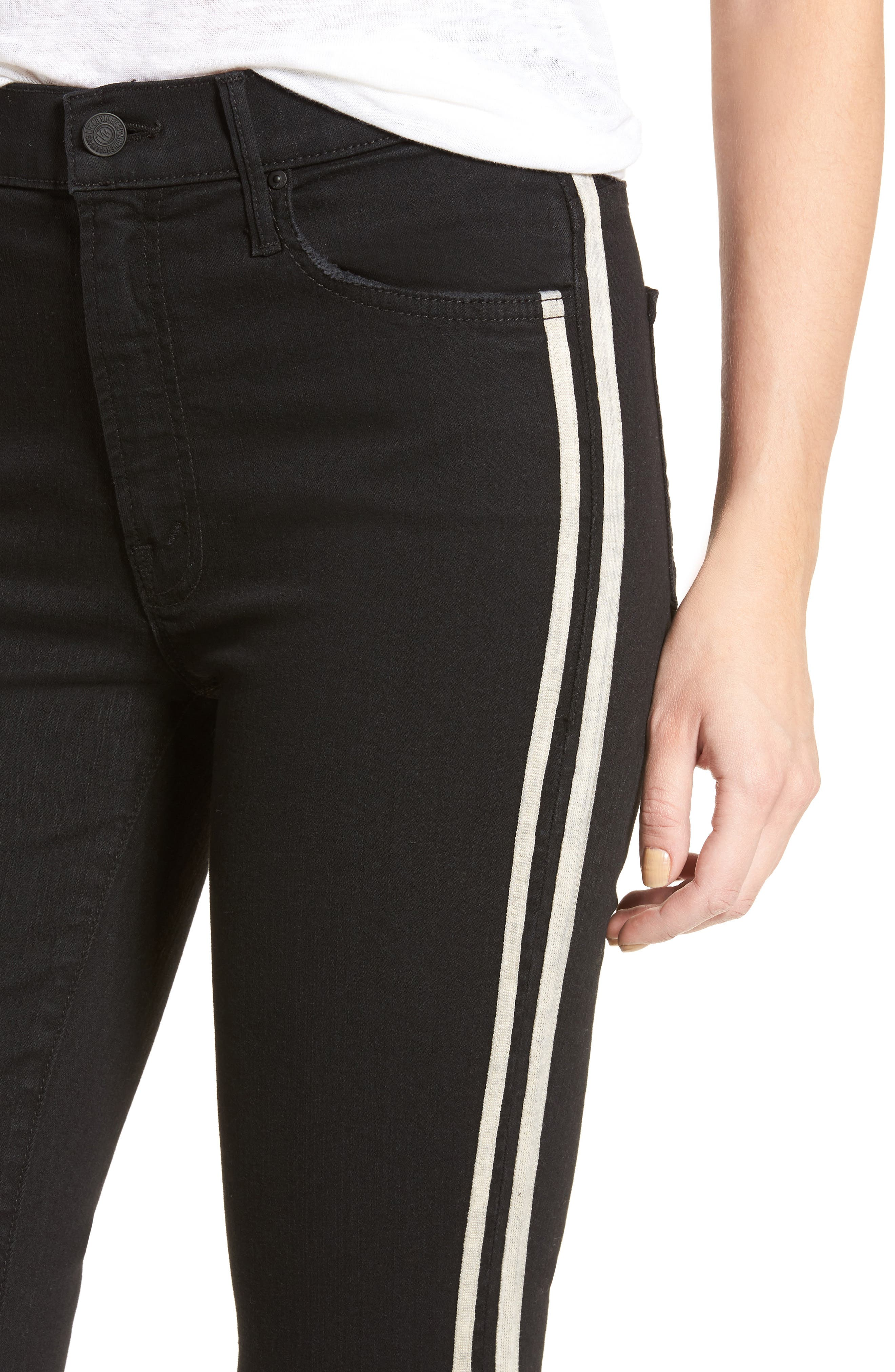 MOTHER, The Insider Crop Jeans, Alternate thumbnail 5, color, GUILTY RACER