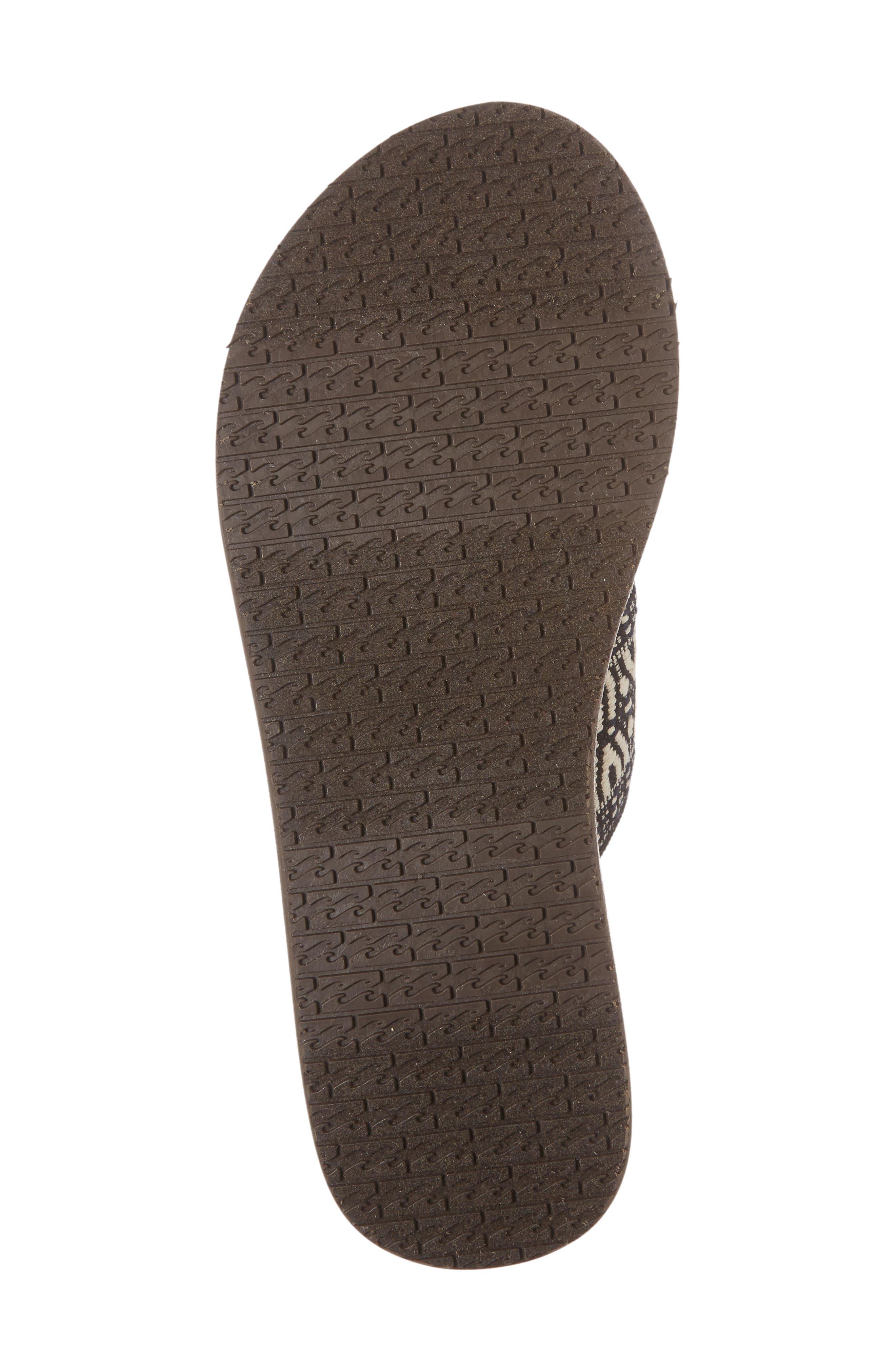 BILLABONG, Surf Bandit Slide Sandal, Alternate thumbnail 6, color, BLACK/ WHITE