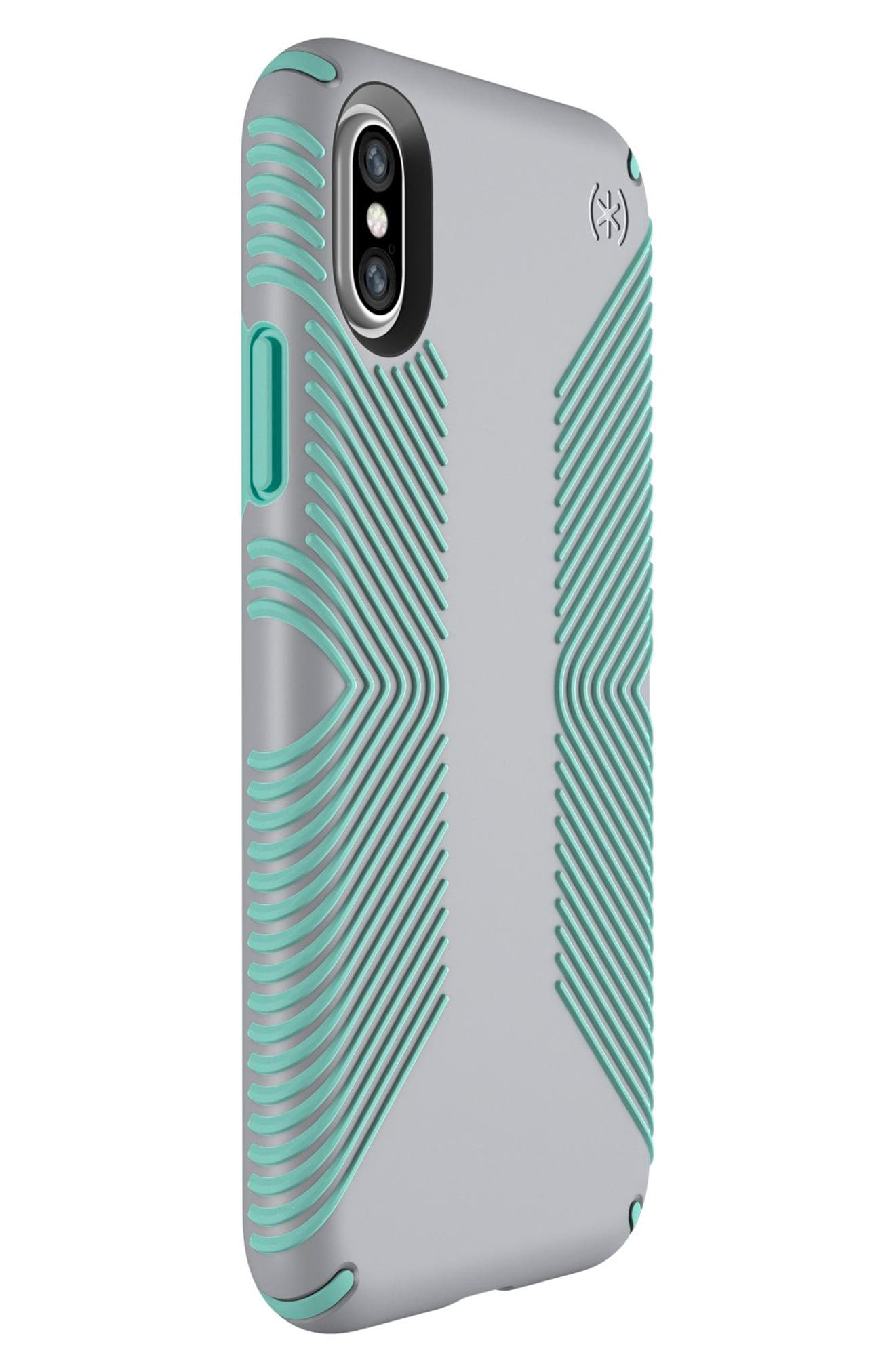 SPECK, iPhone X & Xs Case, Alternate thumbnail 6, color, DOLPHIN GREY/ ALOE GREEN