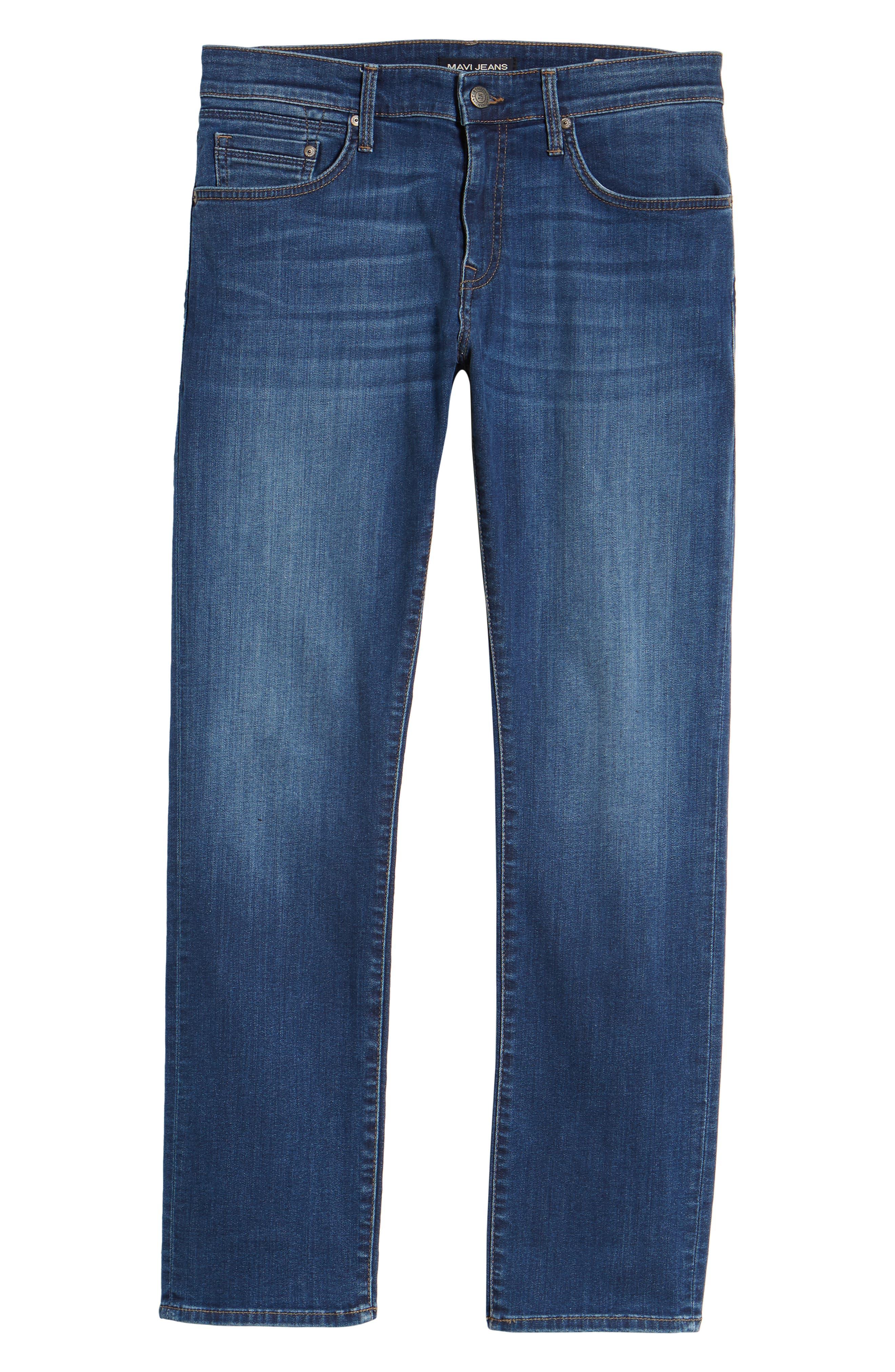 MAVI JEANS, Zach Straight Leg Jeans, Alternate thumbnail 7, color, DARK USED CAPITOL HILL