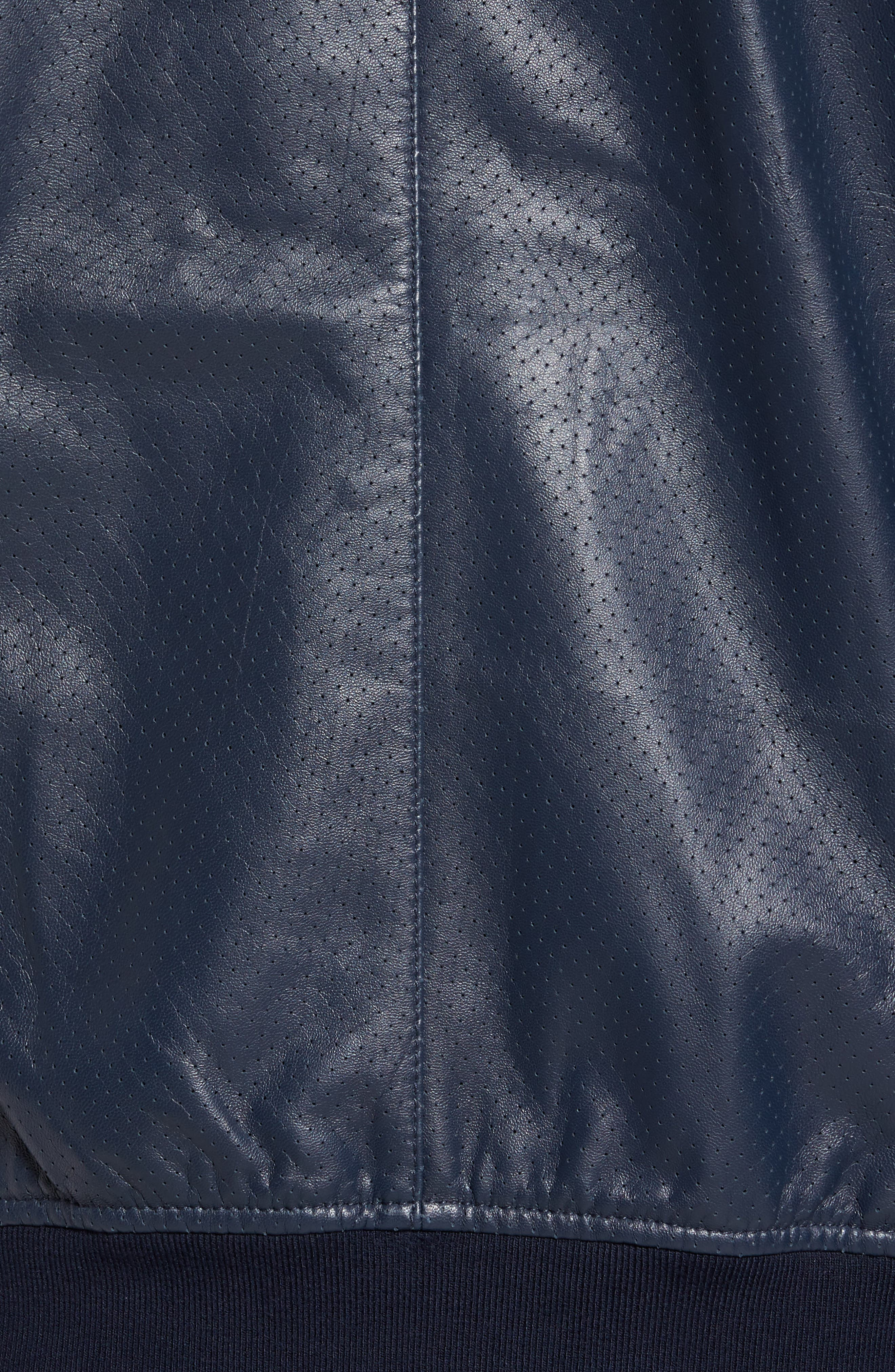 ZACHARY PRELL, Mixed Media Jacket, Alternate thumbnail 6, color, NAVY