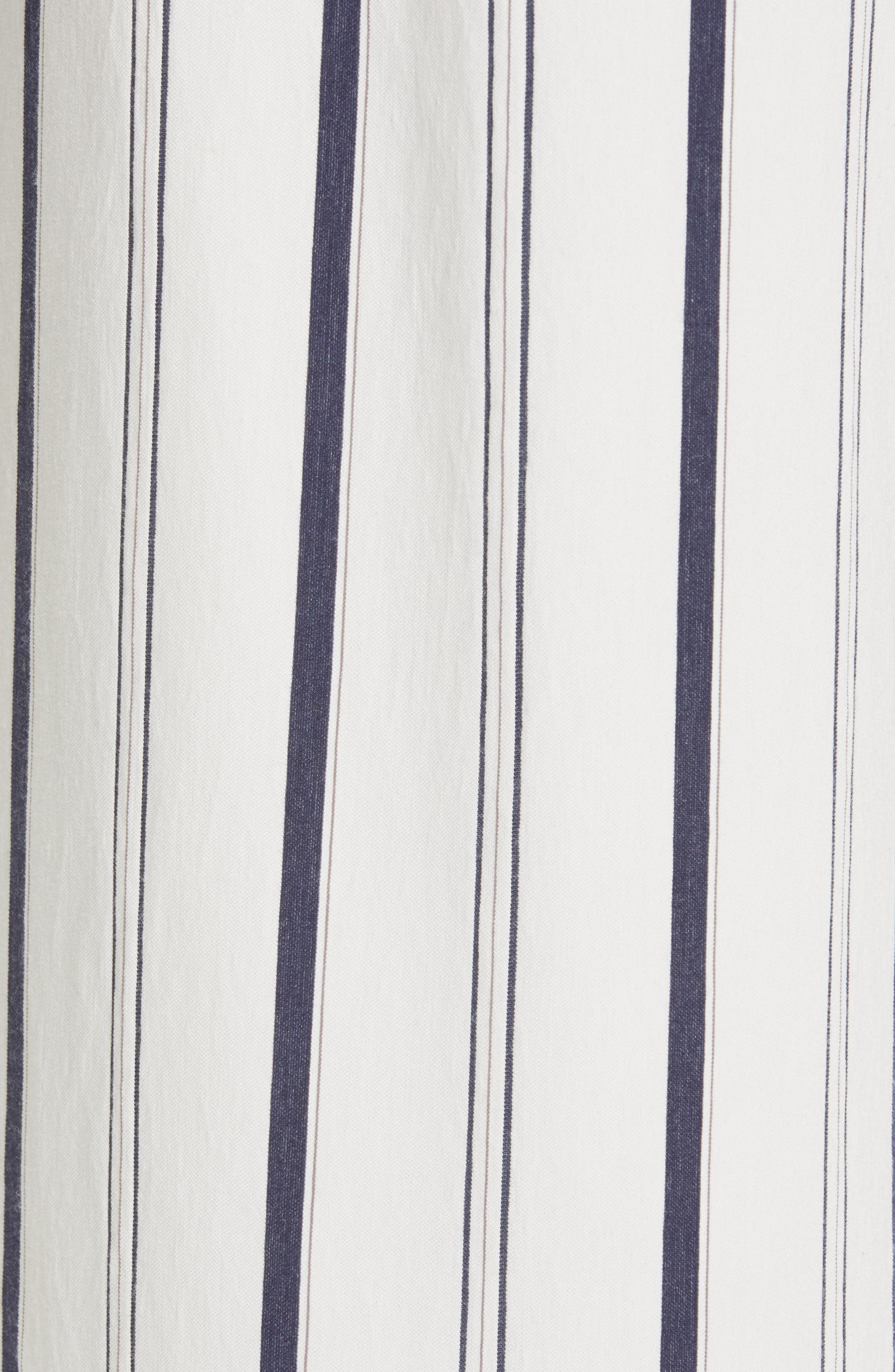 VINCE, Belted Stripe Pants, Alternate thumbnail 6, color, OFF WHITE