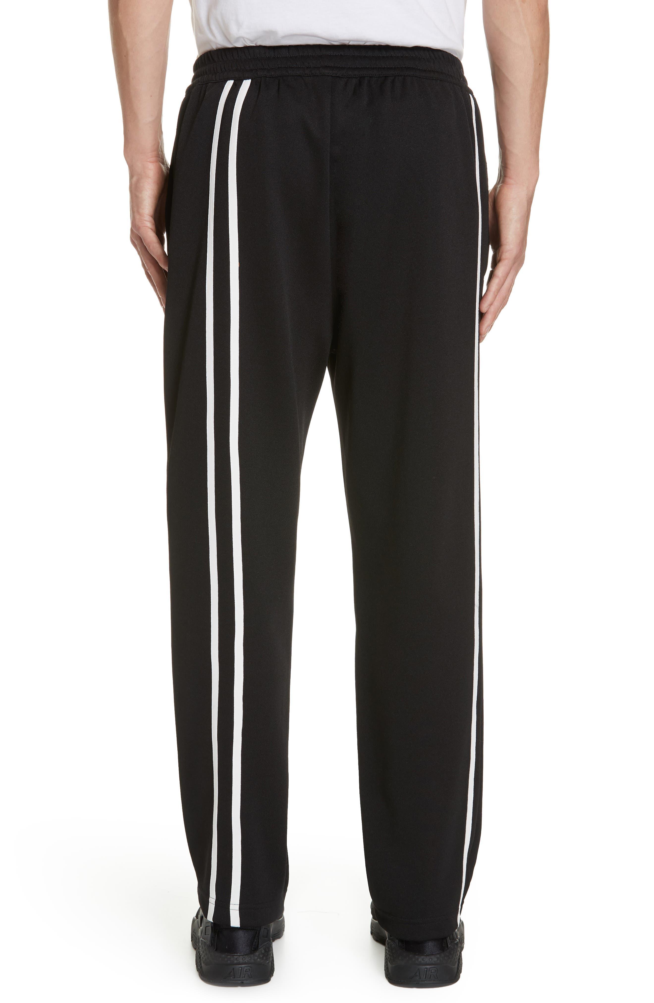 HELMUT LANG, Sport Stripe Sweatpants, Alternate thumbnail 2, color, BLACK AND WHITE
