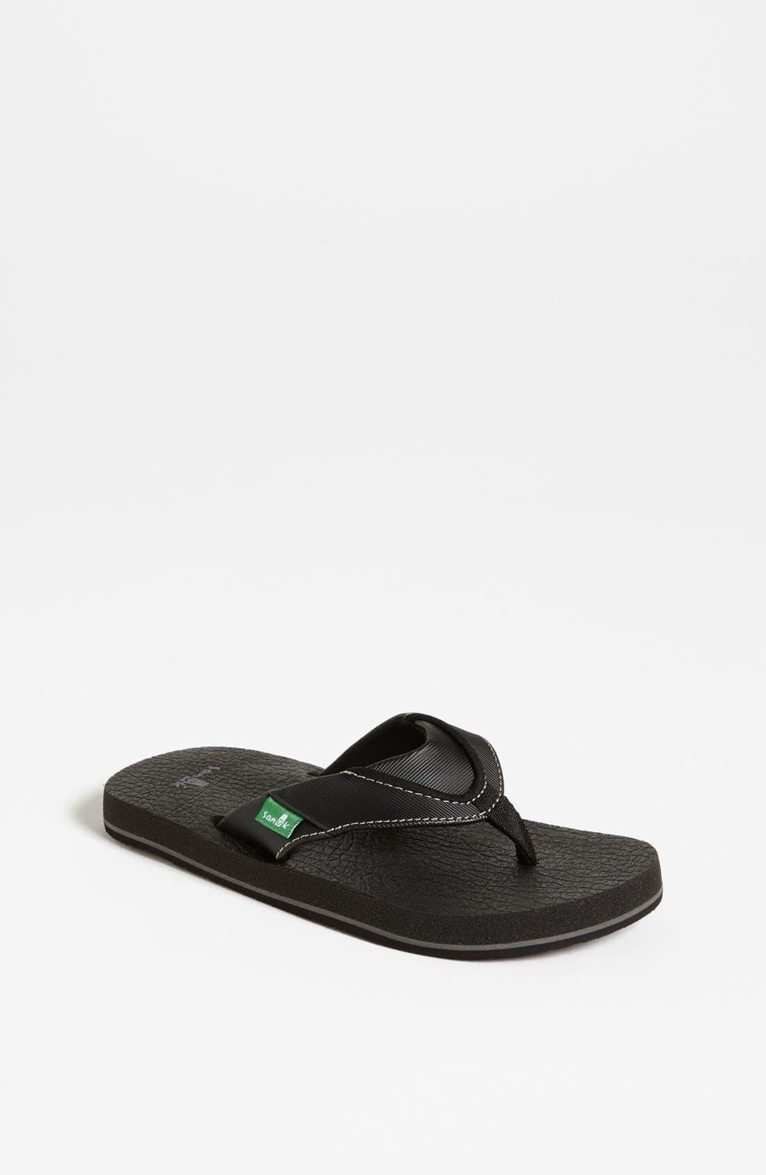 SANUK 'Root Beer' Sandal, Main, color, BLACK