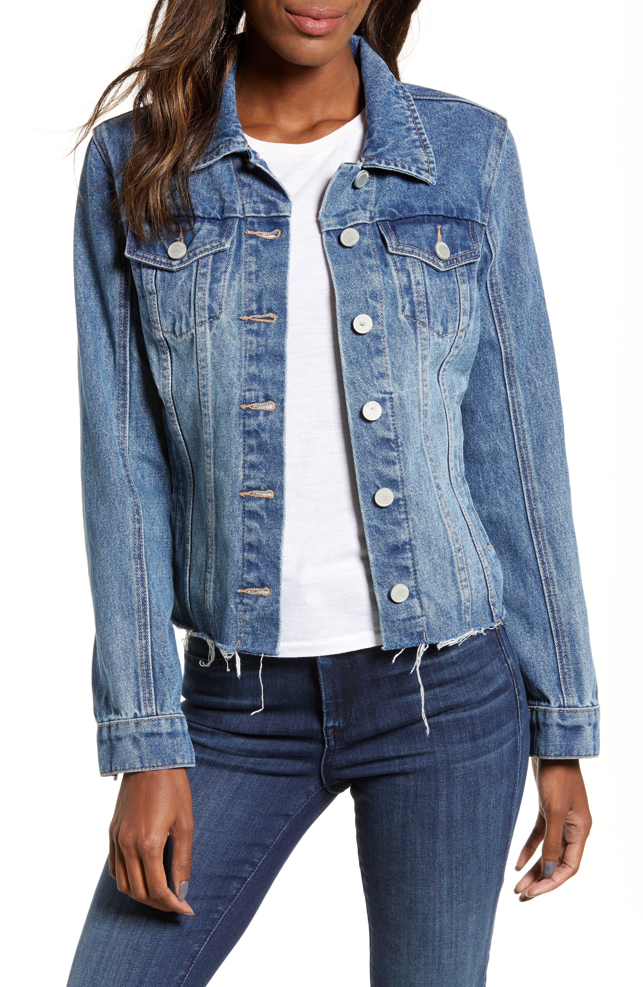 Zip Detail Denim Jacket by Blanknyc