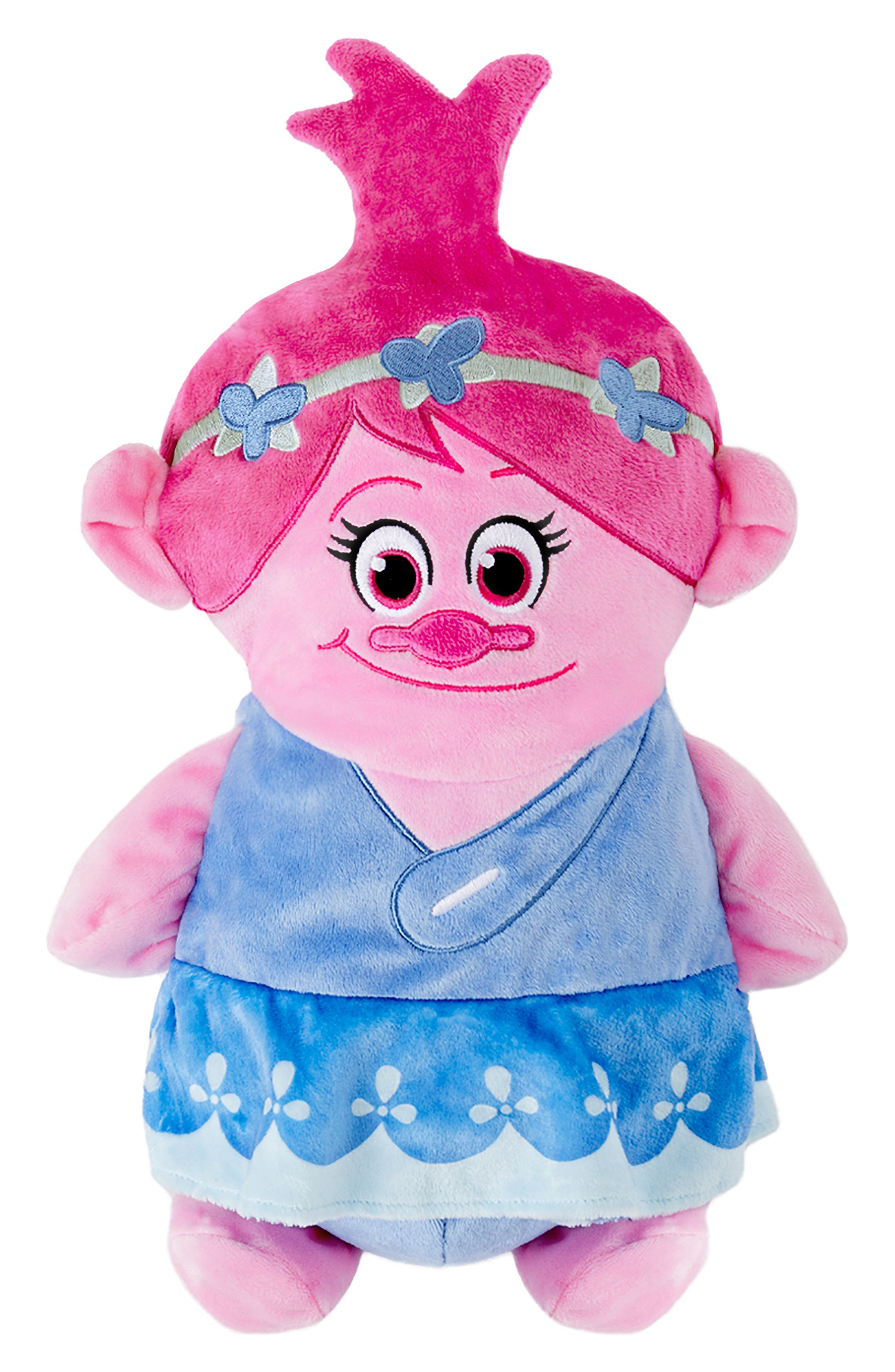 CUBCOATS, DreamWorks Trolls Poppy 2-in-1 Stuffed Animal Hoodie, Main thumbnail 1, color, PINK MIX