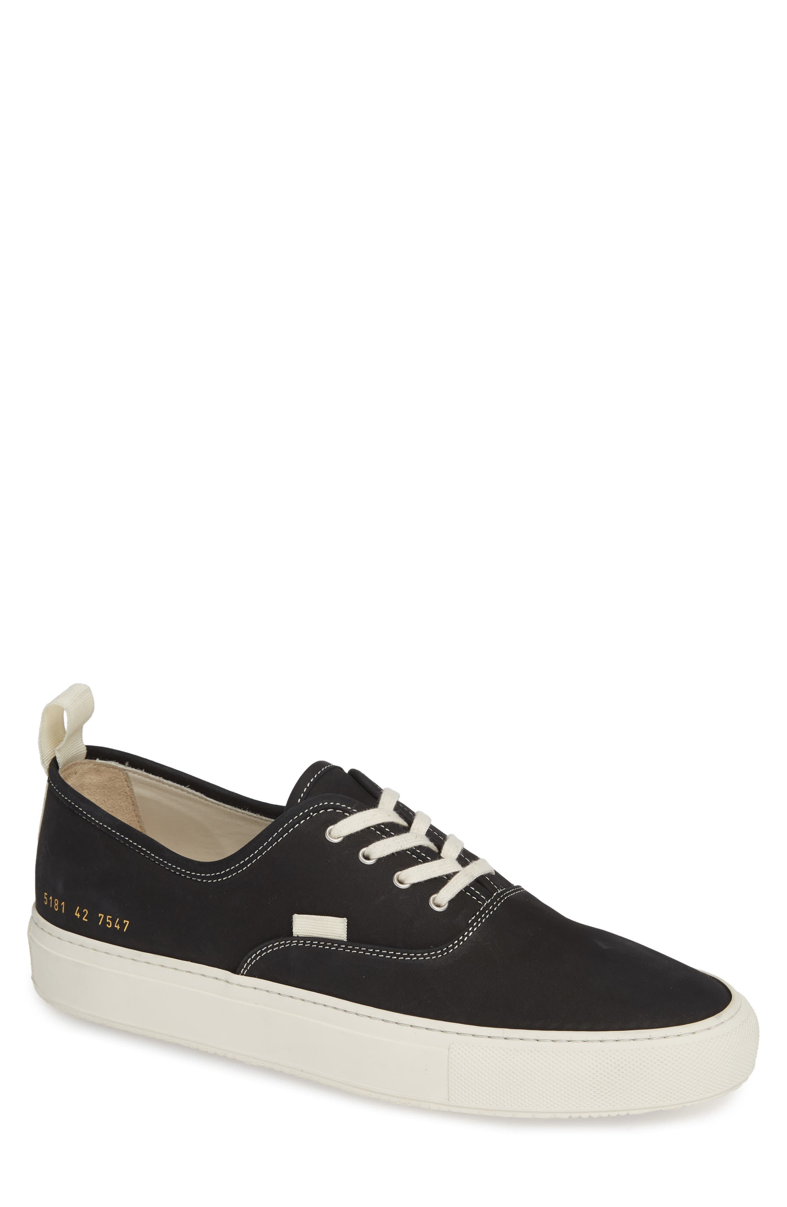COMMON PROJECTS Four-Hole Sneaker, Main, color, BLACK