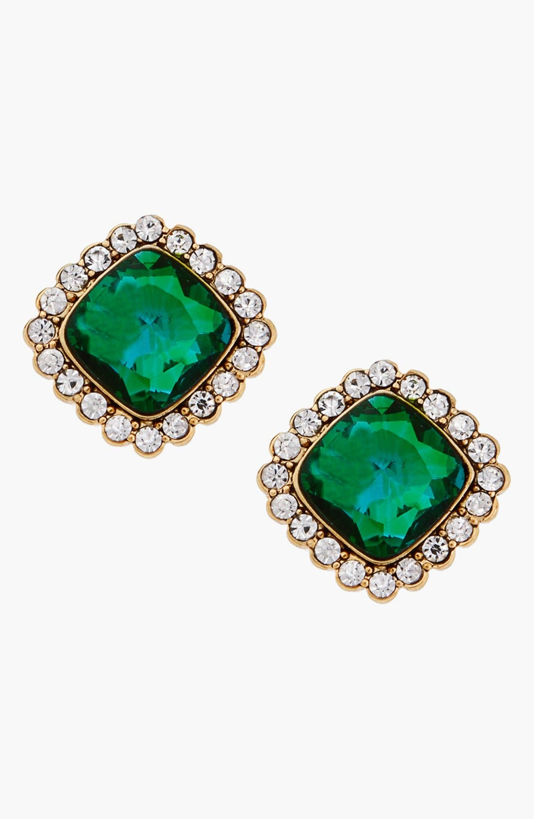 ERICKSON BEAMON ROCKS, 'Tropical Punch' Square Stud Earrings, Main thumbnail 1, color, 400