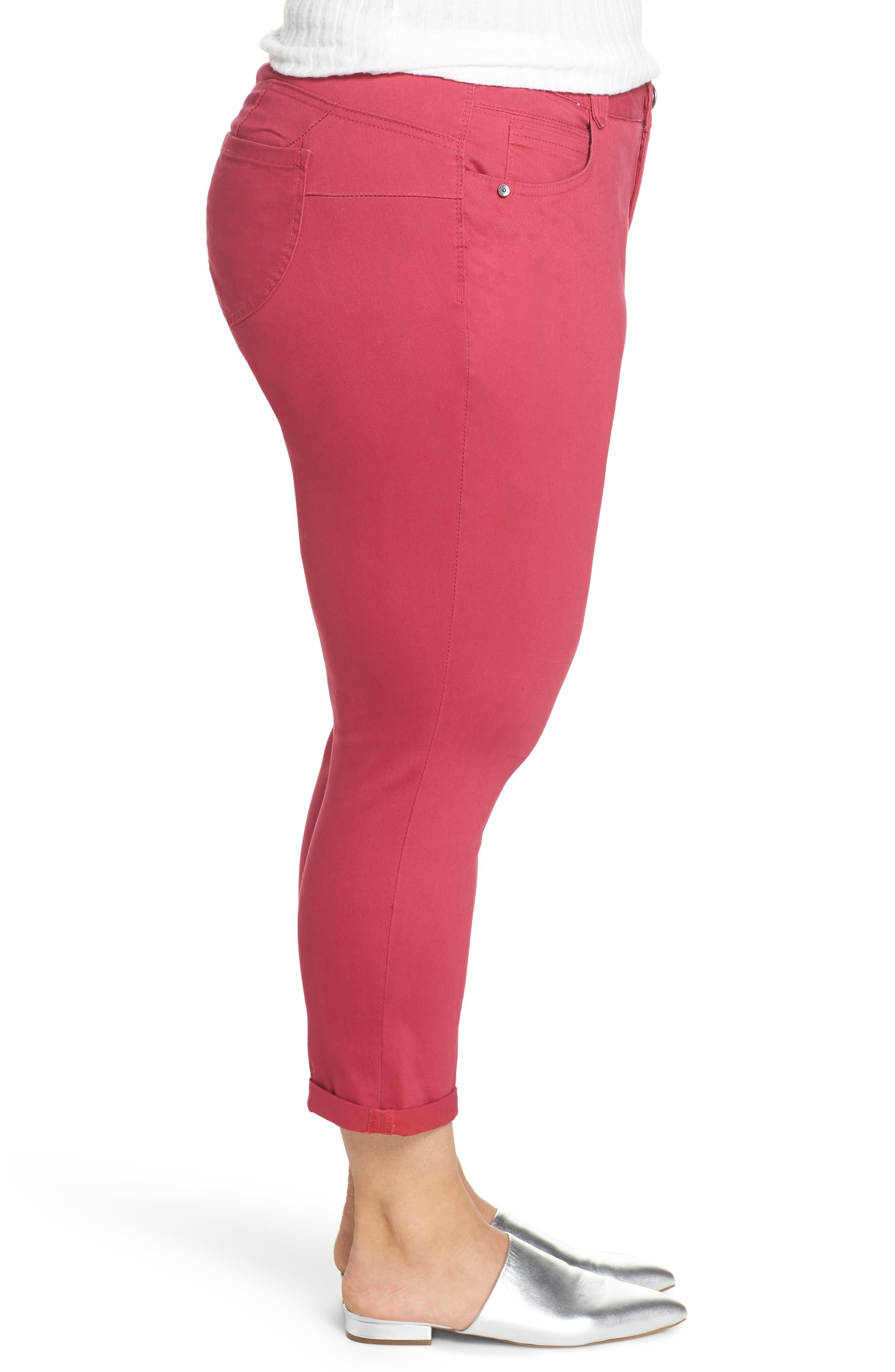 WIT & WISDOM, Ab-Solution Ankle Skimmer Jeans, Alternate thumbnail 4, color, GRANITA
