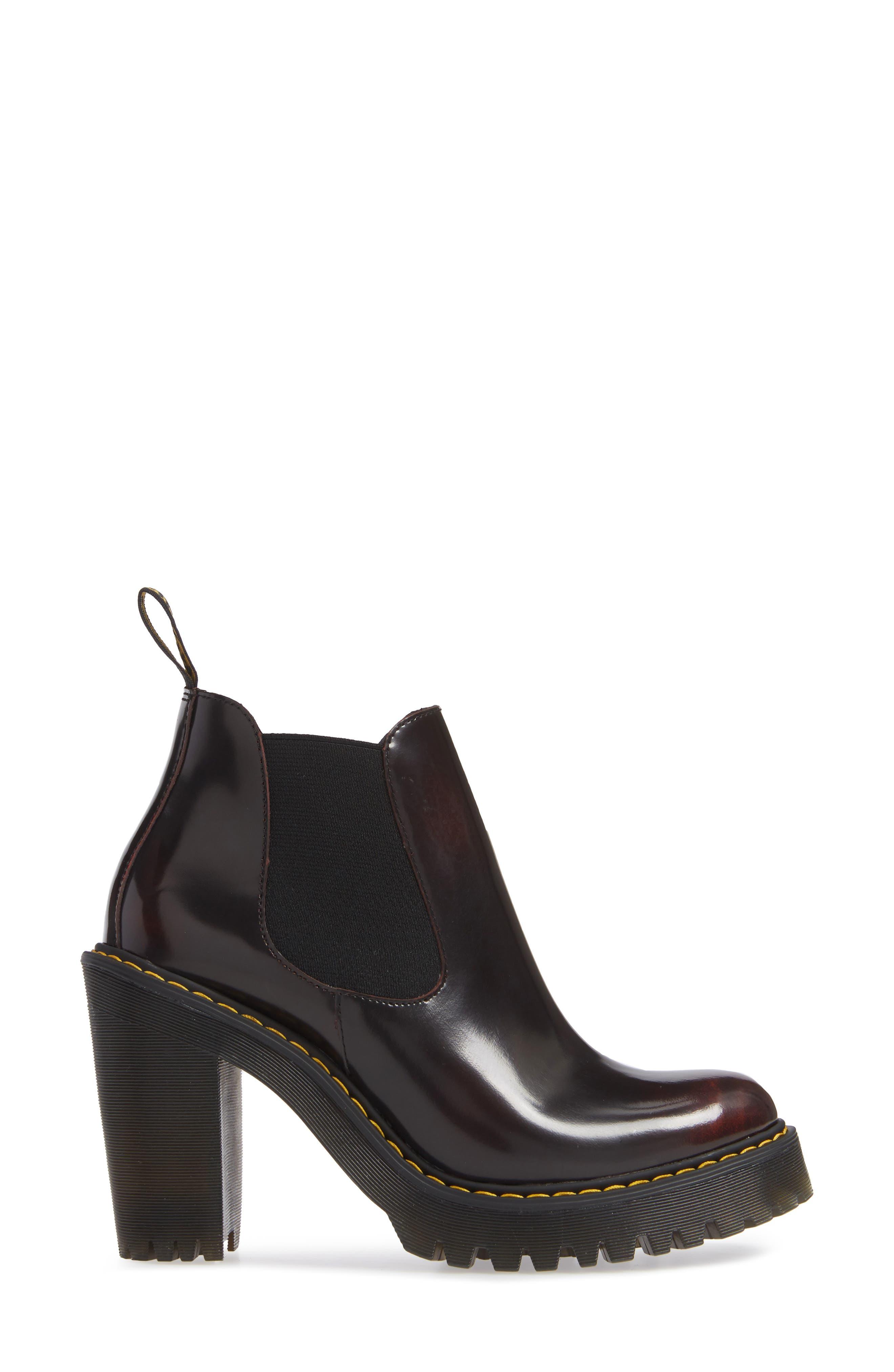 DR. MARTENS, Hurston Chelsea Boot, Alternate thumbnail 3, color, 930