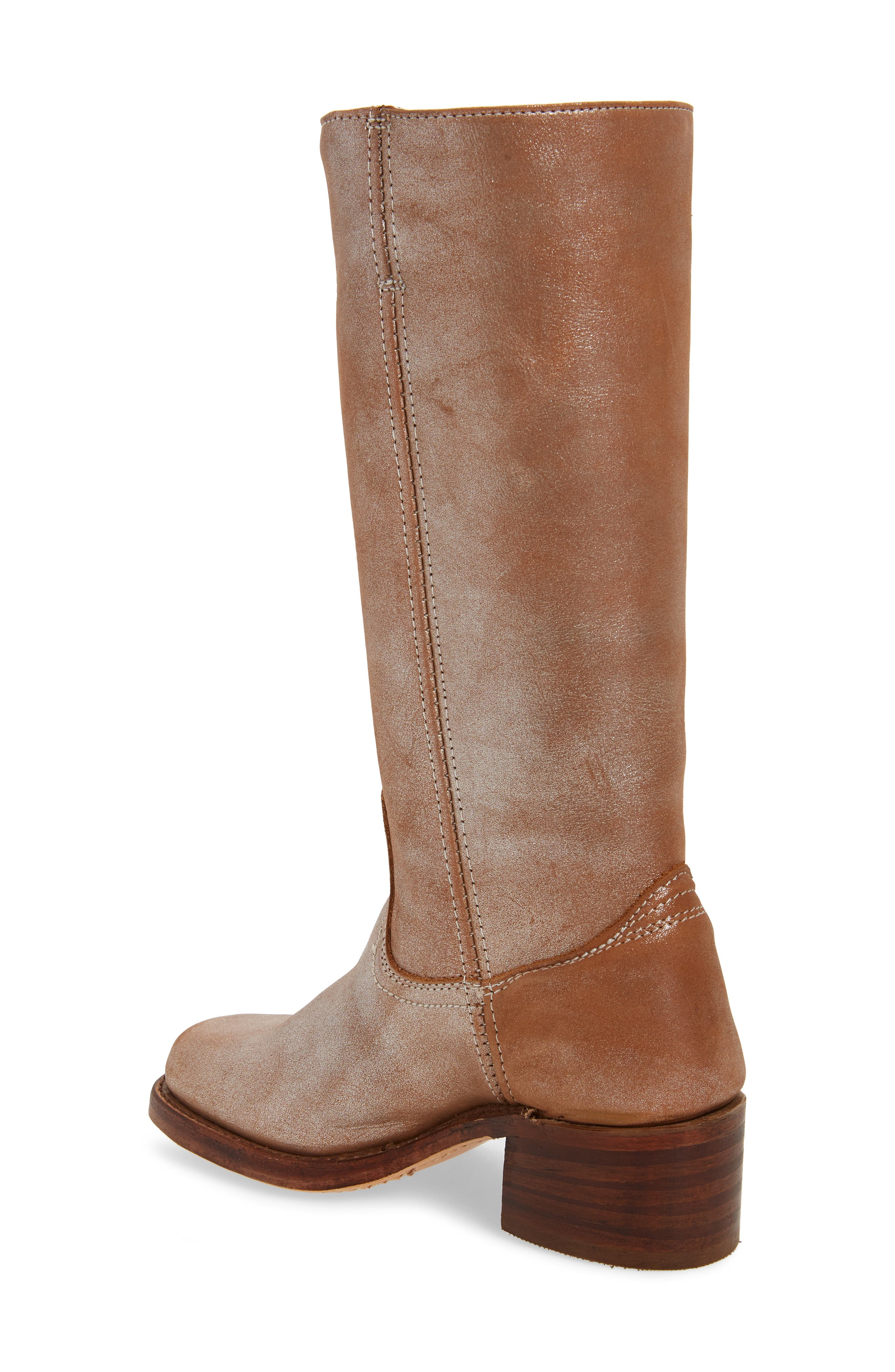FRYE, 'Campus 14L' Boot, Alternate thumbnail 2, color, SILVER LEATHER