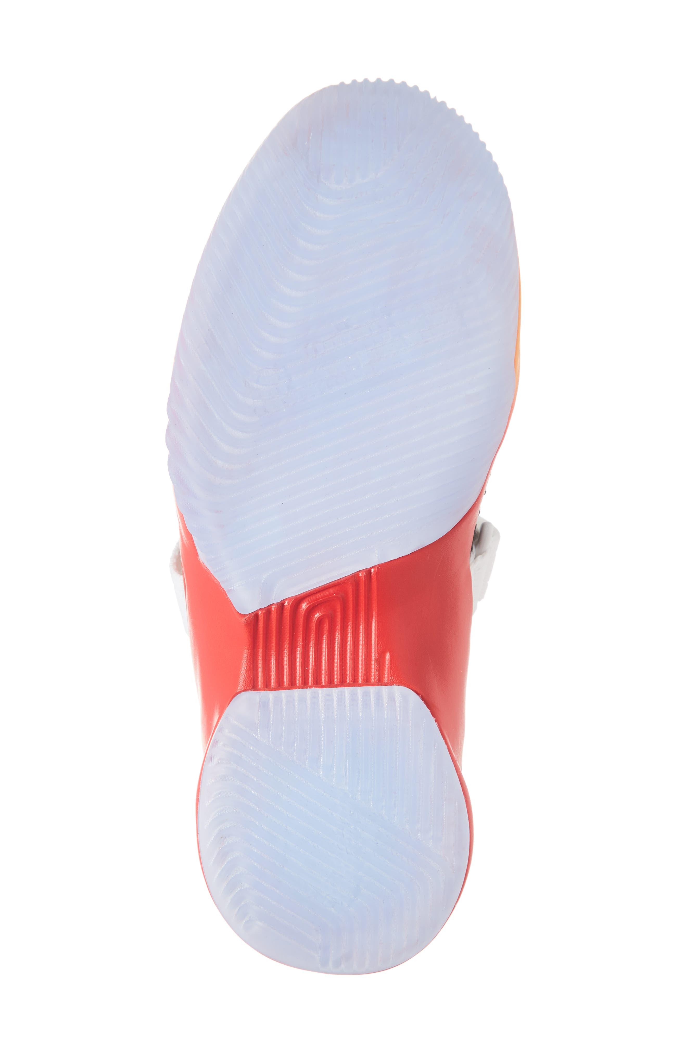 NIKE, LeBron Soldier XII Basketball Shoe, Alternate thumbnail 6, color, WHITE/ LASER ORANGE-BLACK-RED