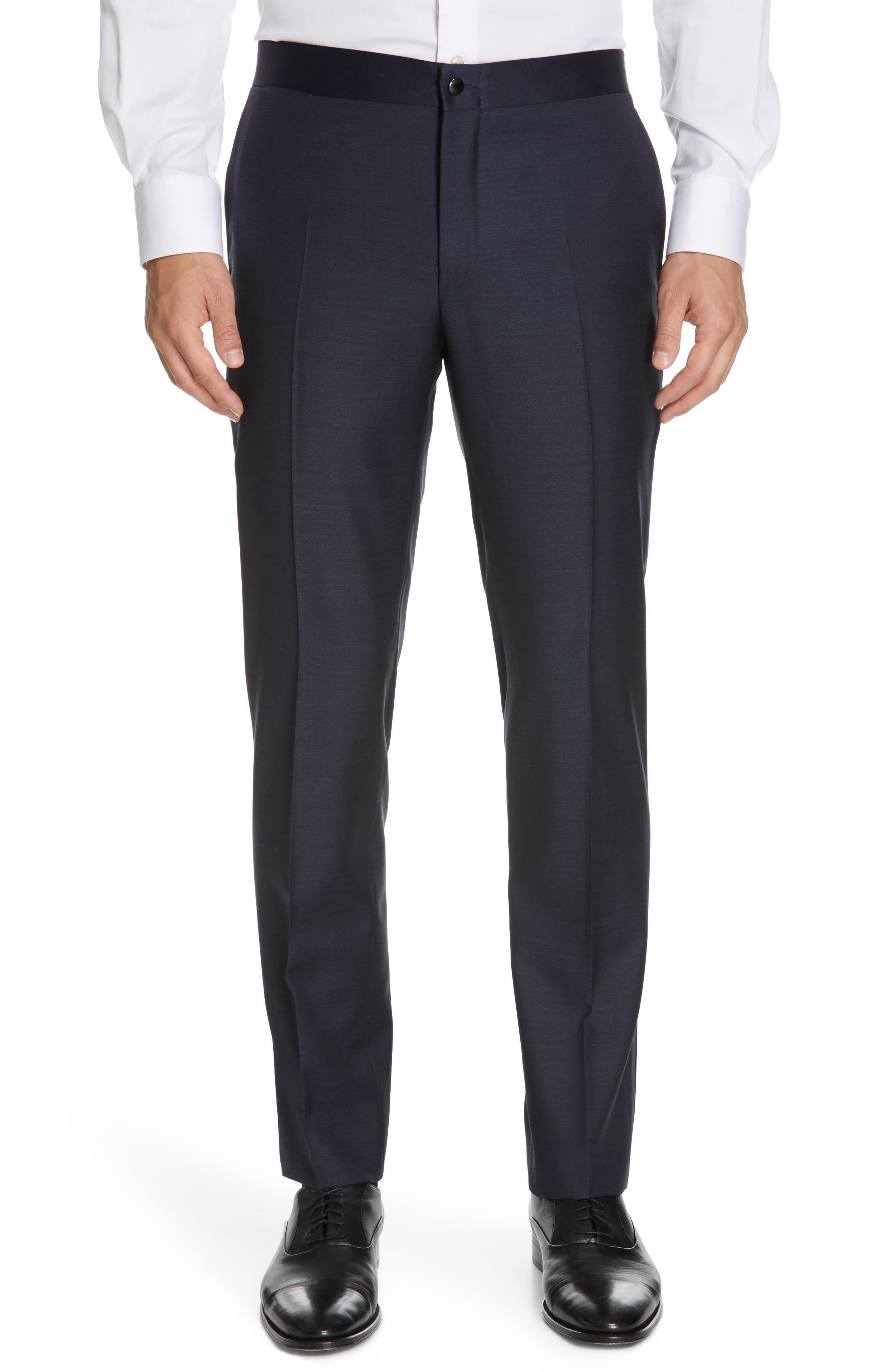 CANALI, Venieza Classic Fit Wool Tuxedo, Alternate thumbnail 6, color, NAVY