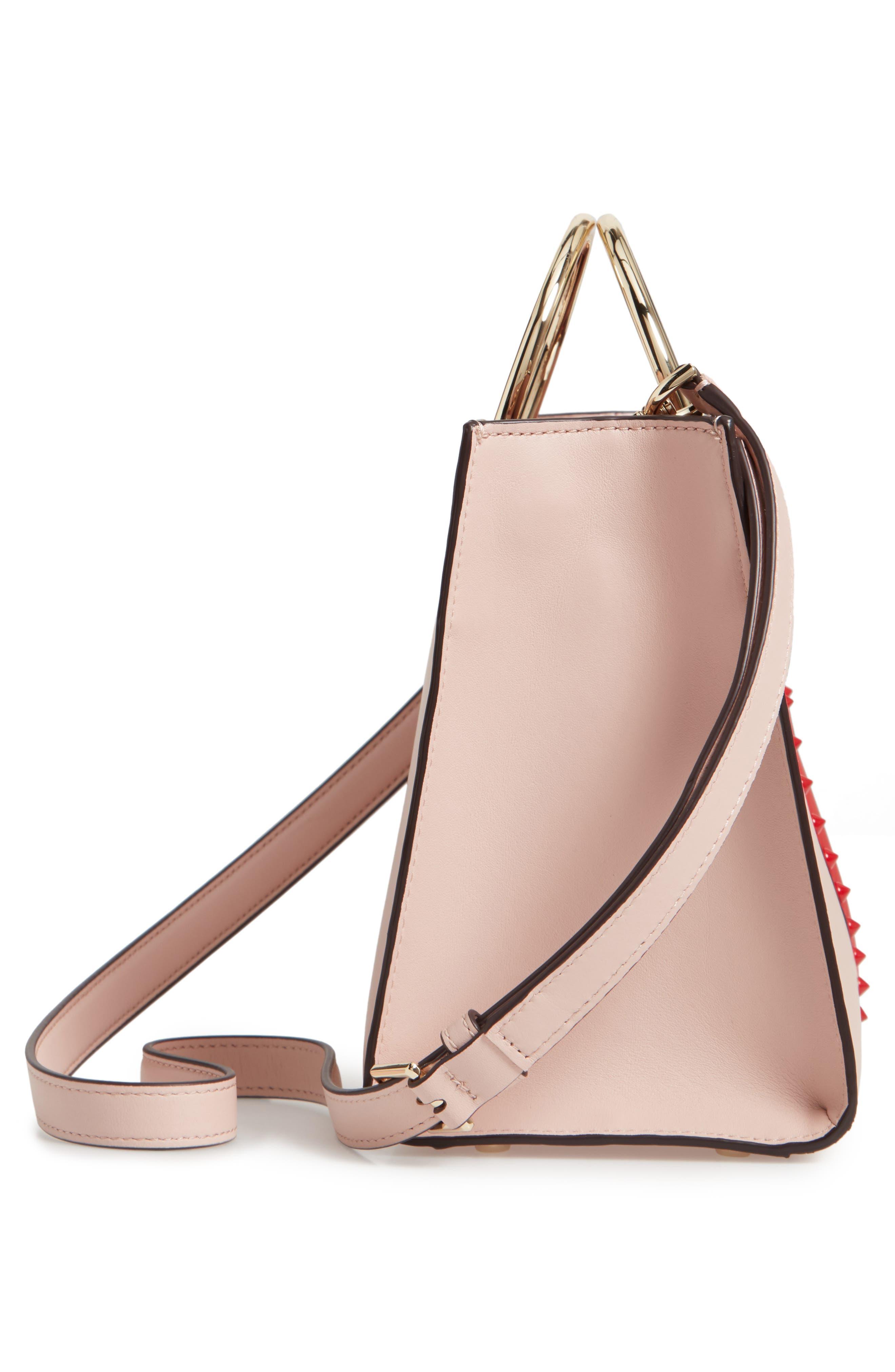 KATE SPADE NEW YORK, heart it - sam leather satchel, Alternate thumbnail 5, color, 650