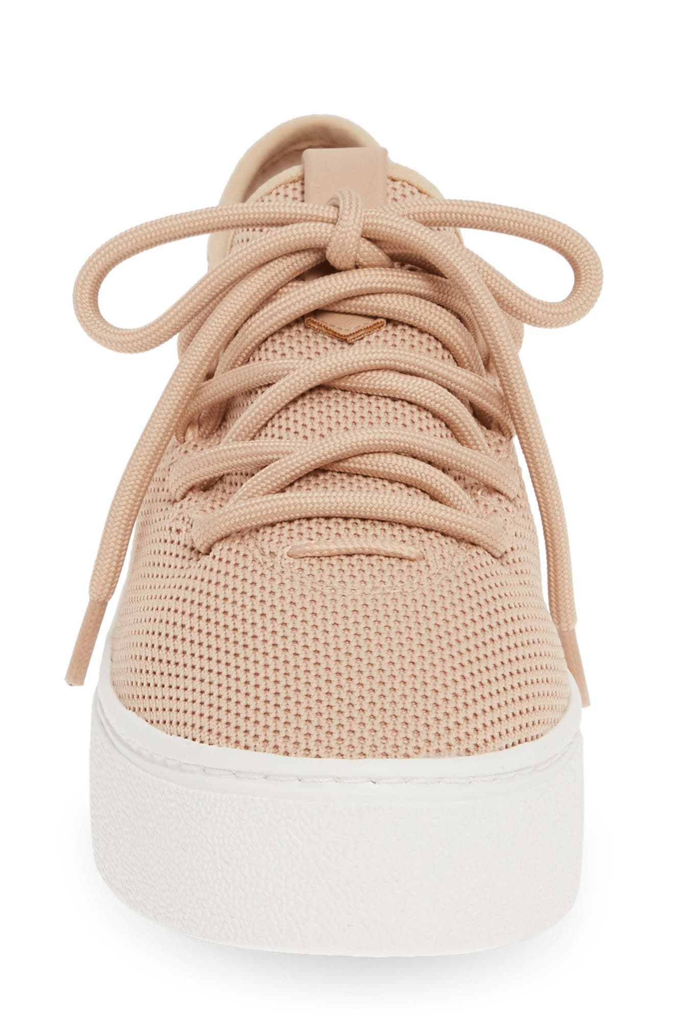 BP., BP Lace-Up Sneaker, Alternate thumbnail 4, color, BLUSH FABRIC