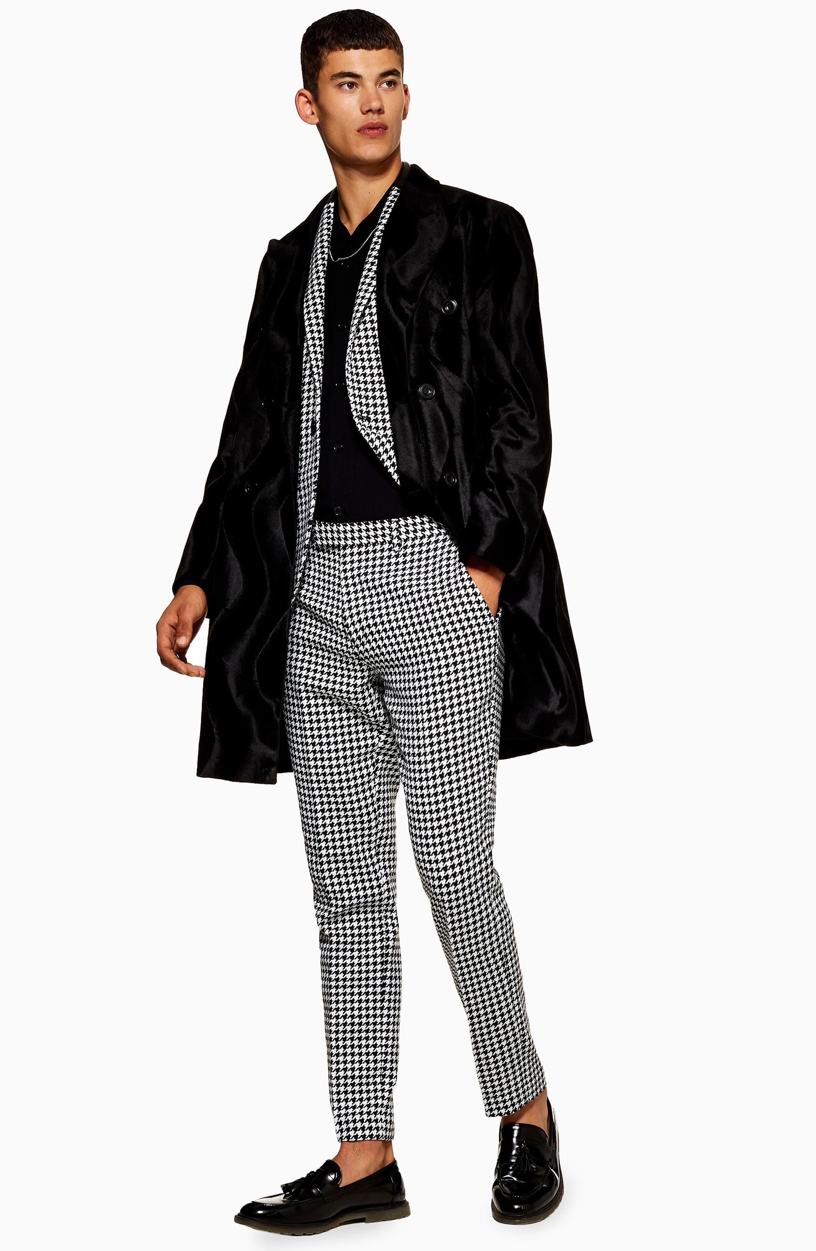 TOPMAN, Roe Skinny Fit Trousers, Alternate thumbnail 5, color, 001