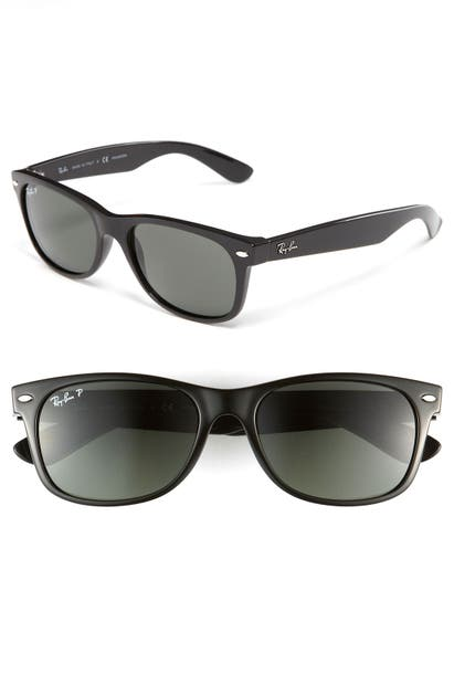 Ray Ban Sunglasses STANDARD NEW WAYFARER 55MM POLARIZED SUNGLASSES - POLARIZED BLACK