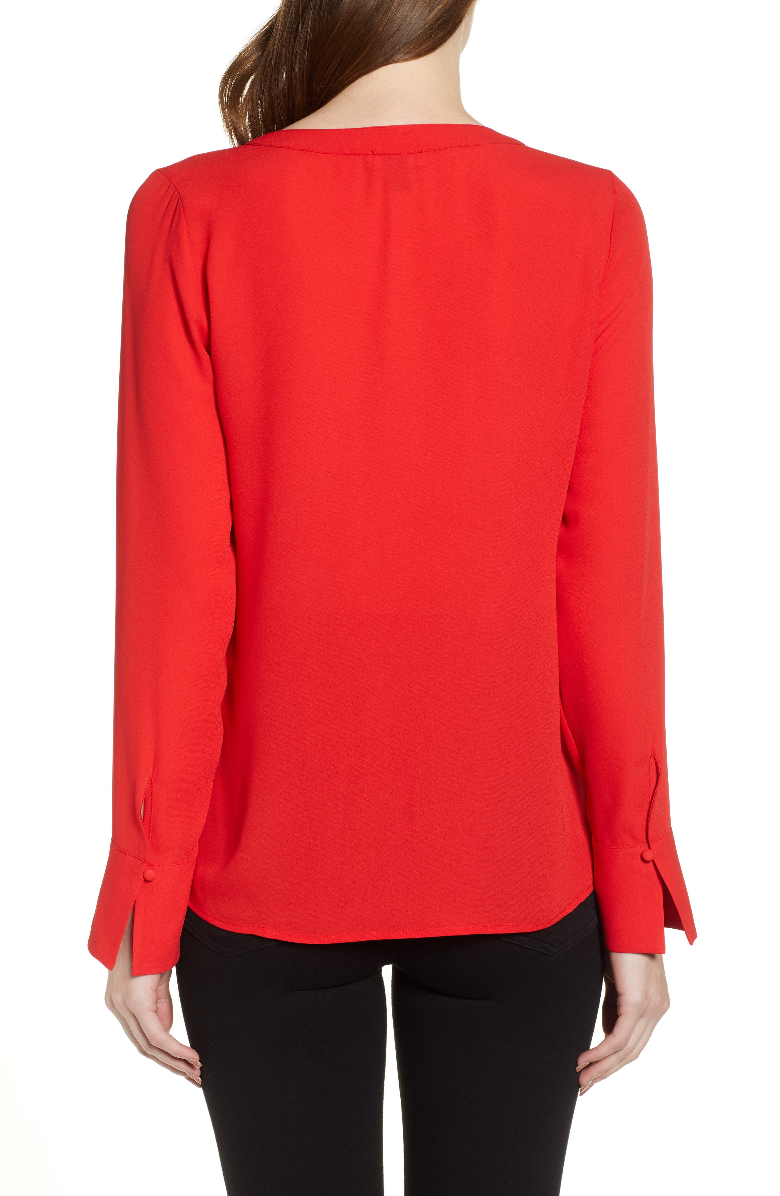 CHELSEA28, Tucked Top, Alternate thumbnail 2, color, RED CHINOISE