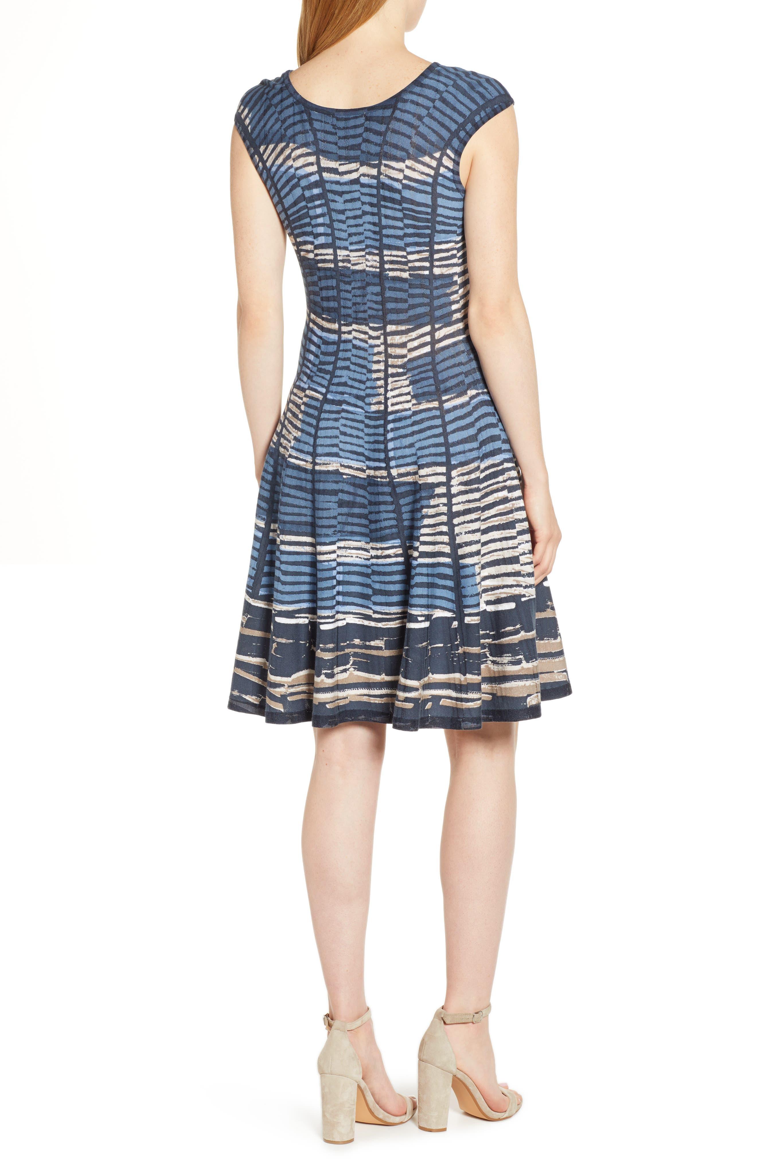 NIC+ZOE, Mesmerize Twirl Dress, Alternate thumbnail 2, color, MULTI
