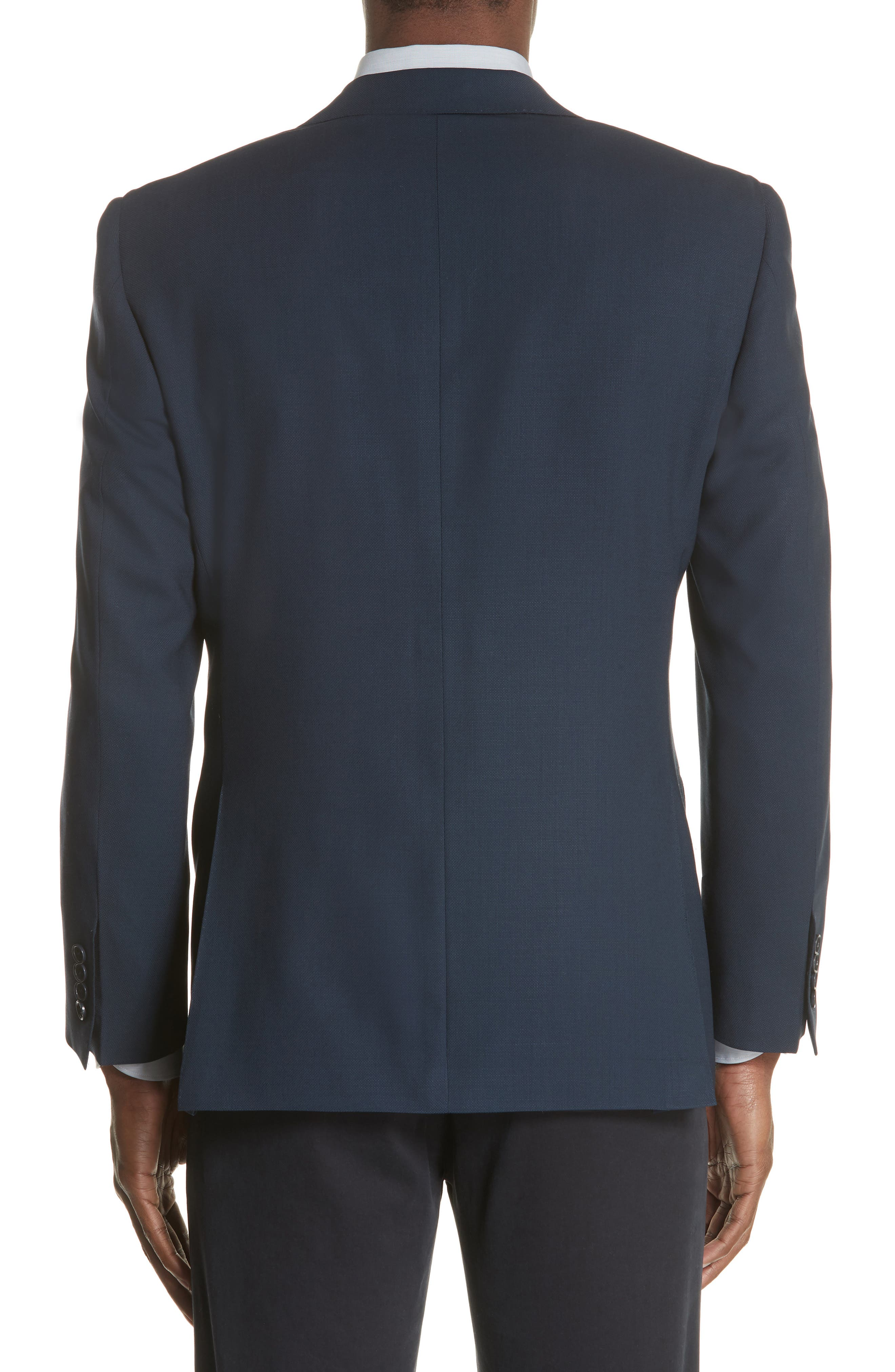CANALI, Classic Fit Wool Blazer, Alternate thumbnail 2, color, NAVY