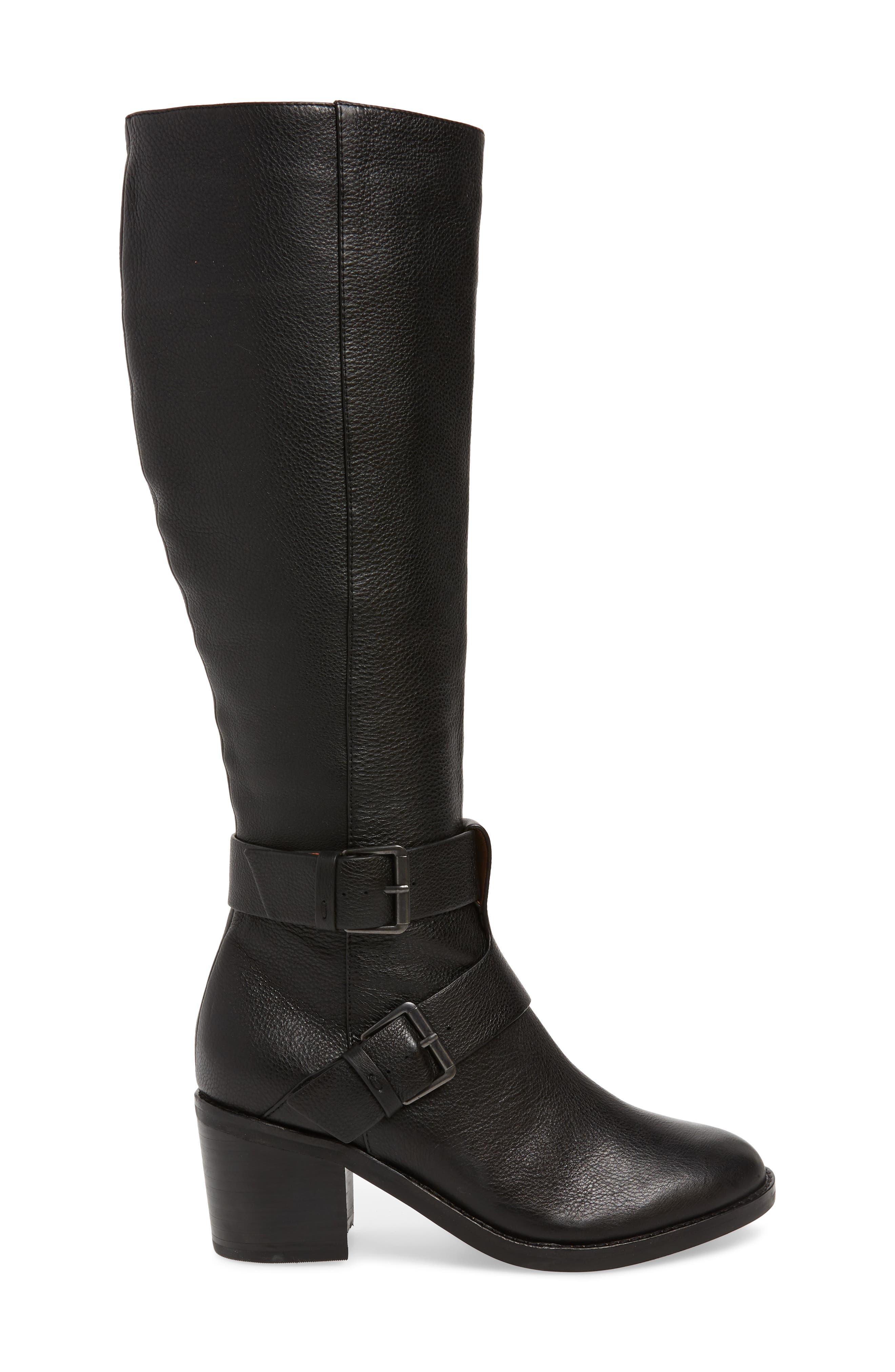 GENTLE SOULS BY KENNETH COLE, Verona Knee-High Riding Boot, Alternate thumbnail 3, color, 001