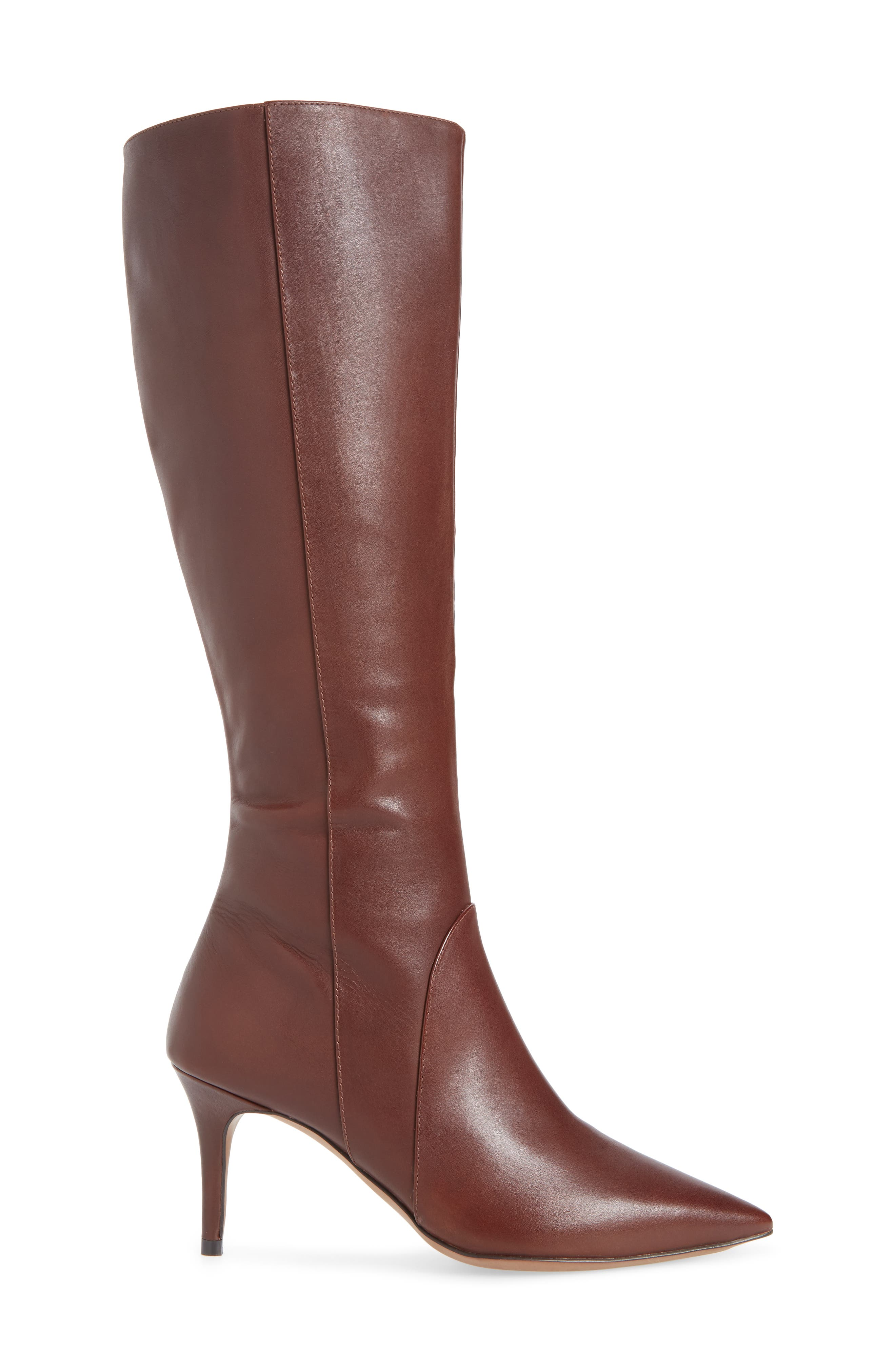 LINEA PAOLO, Perfect Boot, Alternate thumbnail 3, color, CHOCOLATE LEATHER