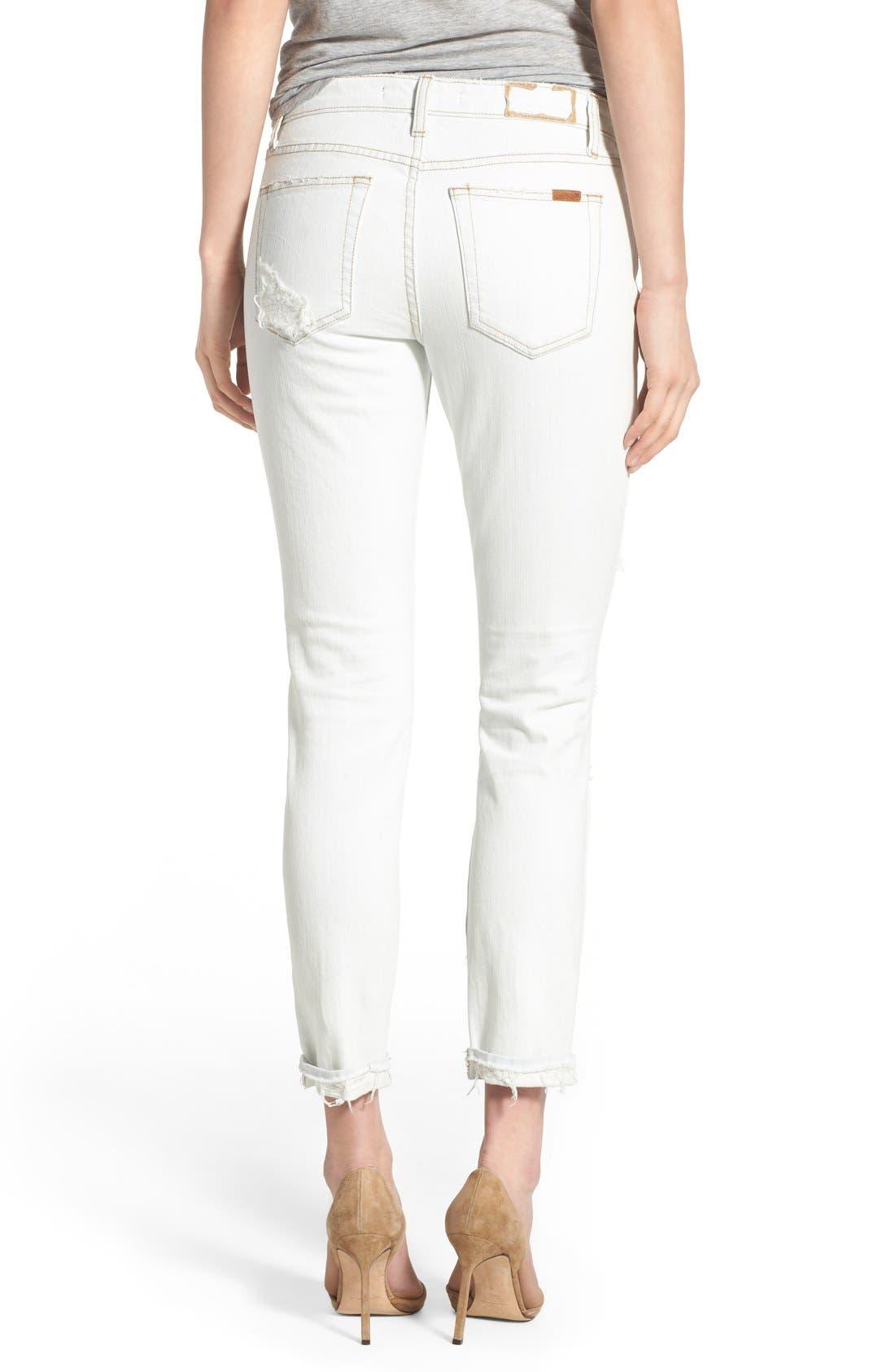 JOE'S, 'Collector's - Billie' Ankle Slim Boyfriend Jeans, Alternate thumbnail 4, color, 100