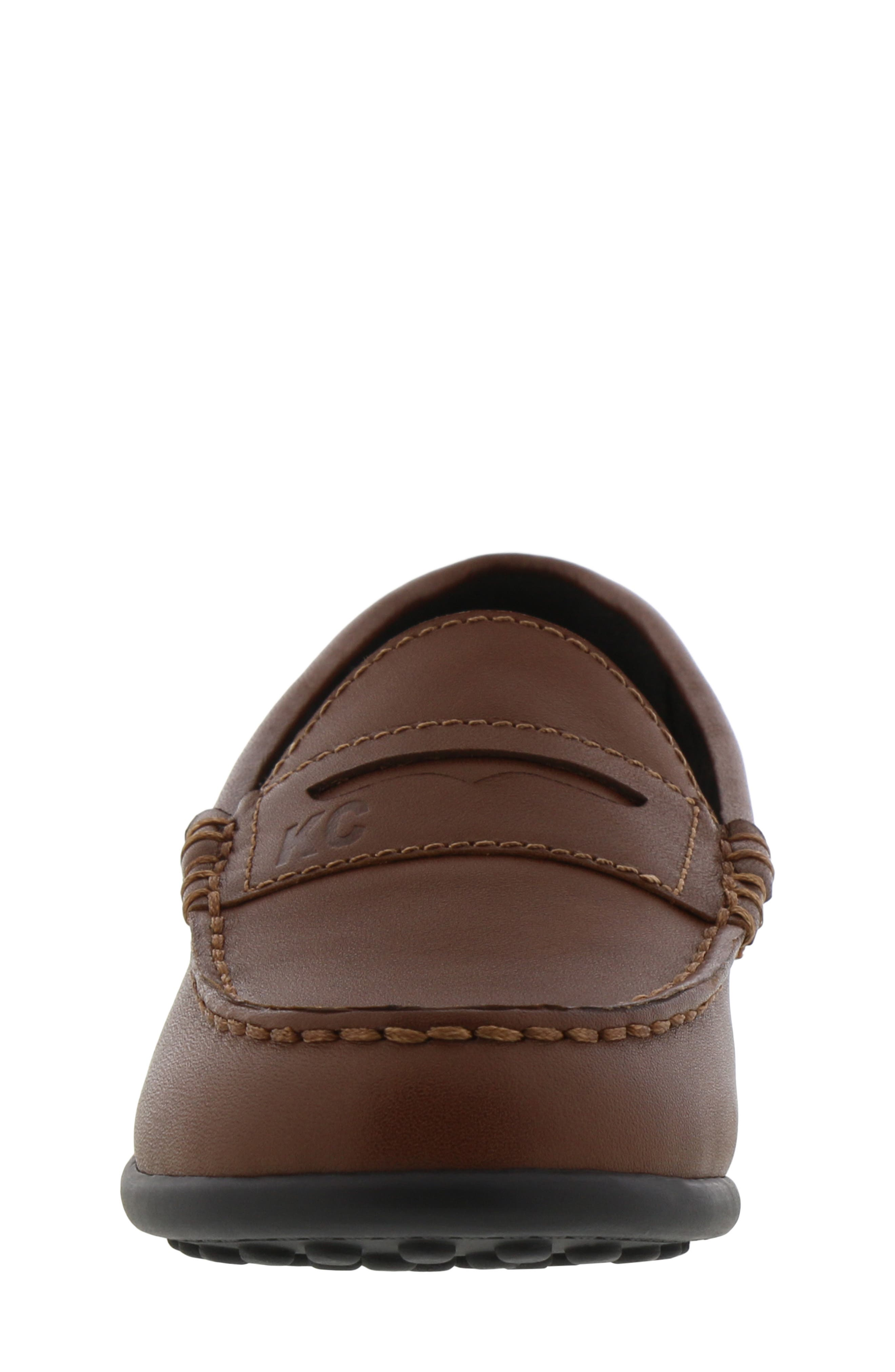 REACTION KENNETH COLE, Helio Gear Loafer, Alternate thumbnail 4, color, COGNAC
