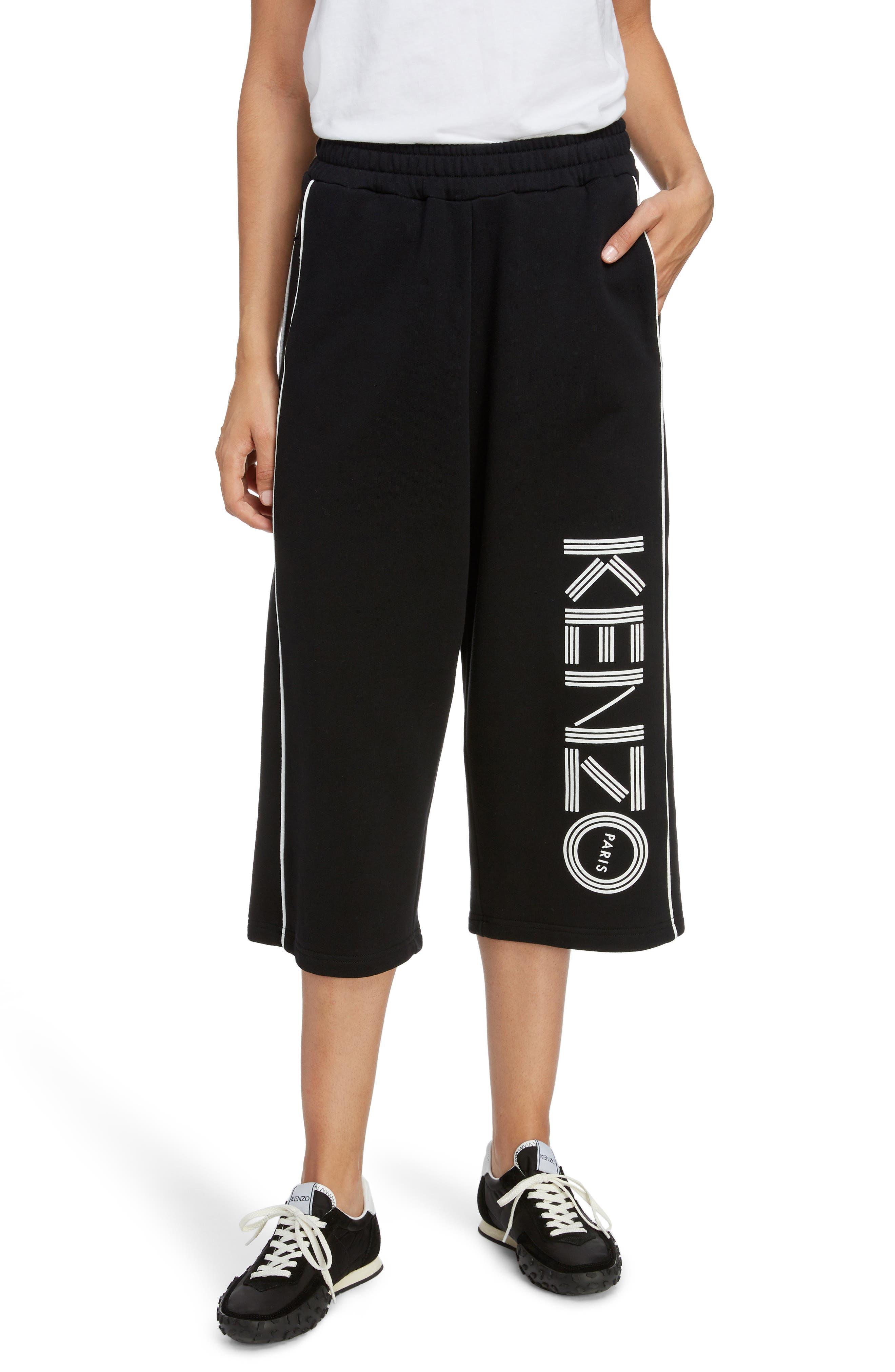 KENZO, Sport Culottes, Main thumbnail 1, color, BLACK