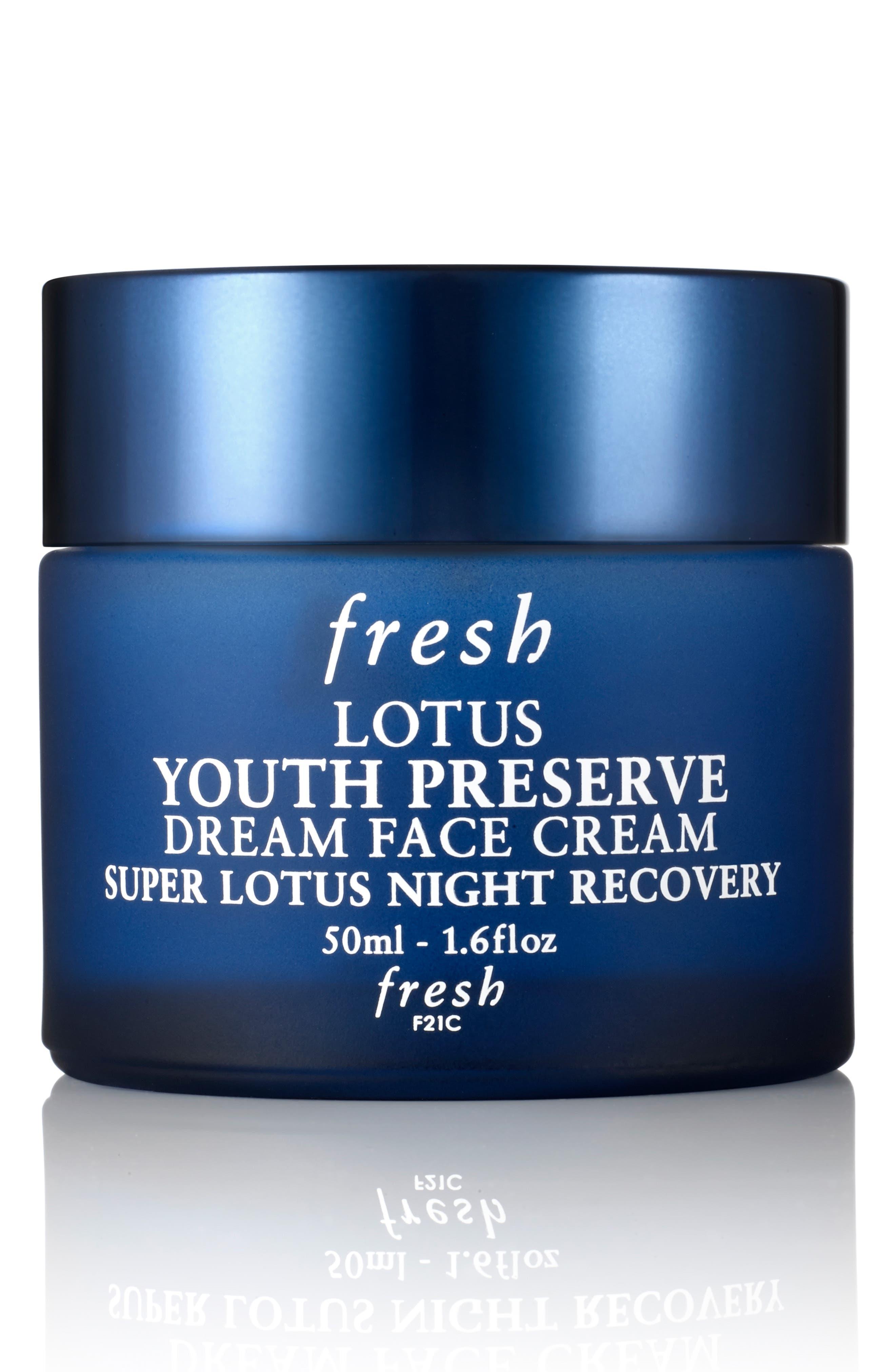 FRESH<SUP>®</SUP>, Lotus Youth Preserve Dream Night Cream, Main thumbnail 1, color, NO COLOR