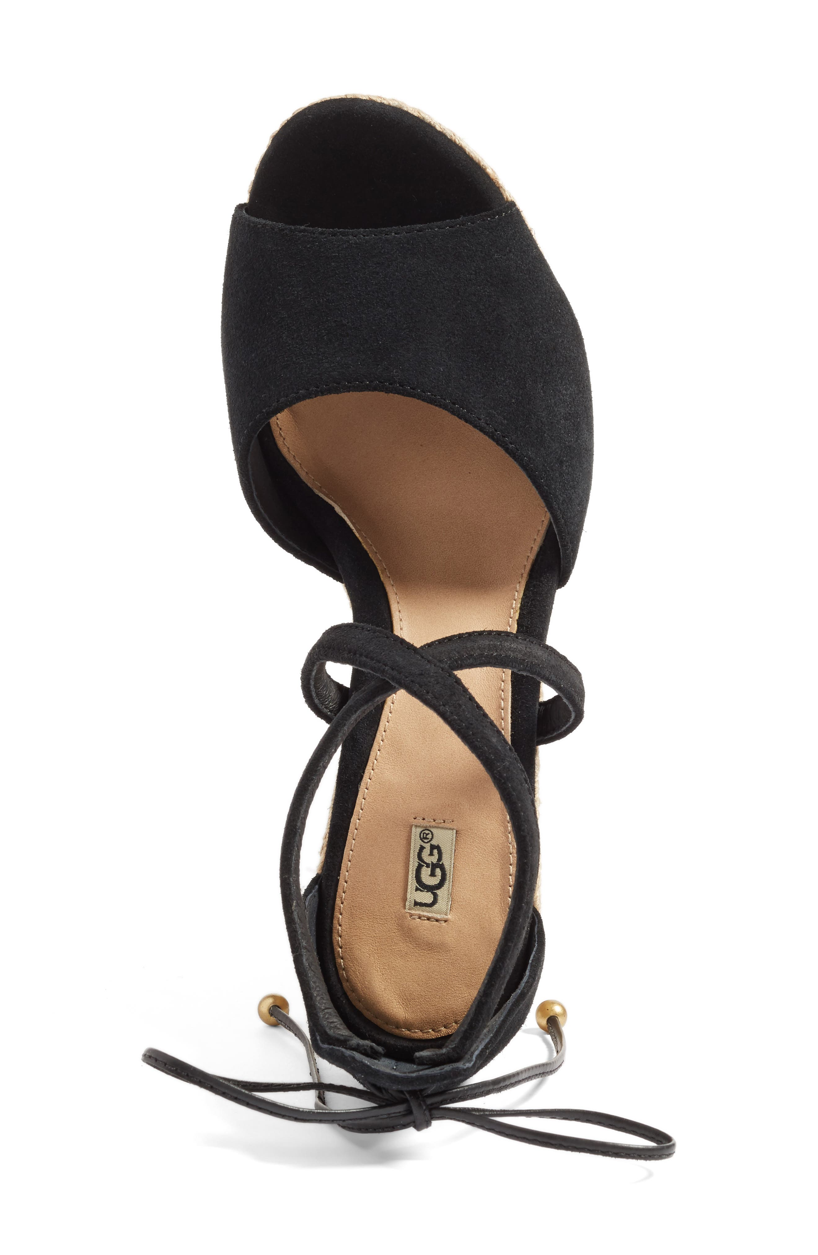 UGG<SUP>®</SUP>, Reagan Sandal, Alternate thumbnail 3, color, 001