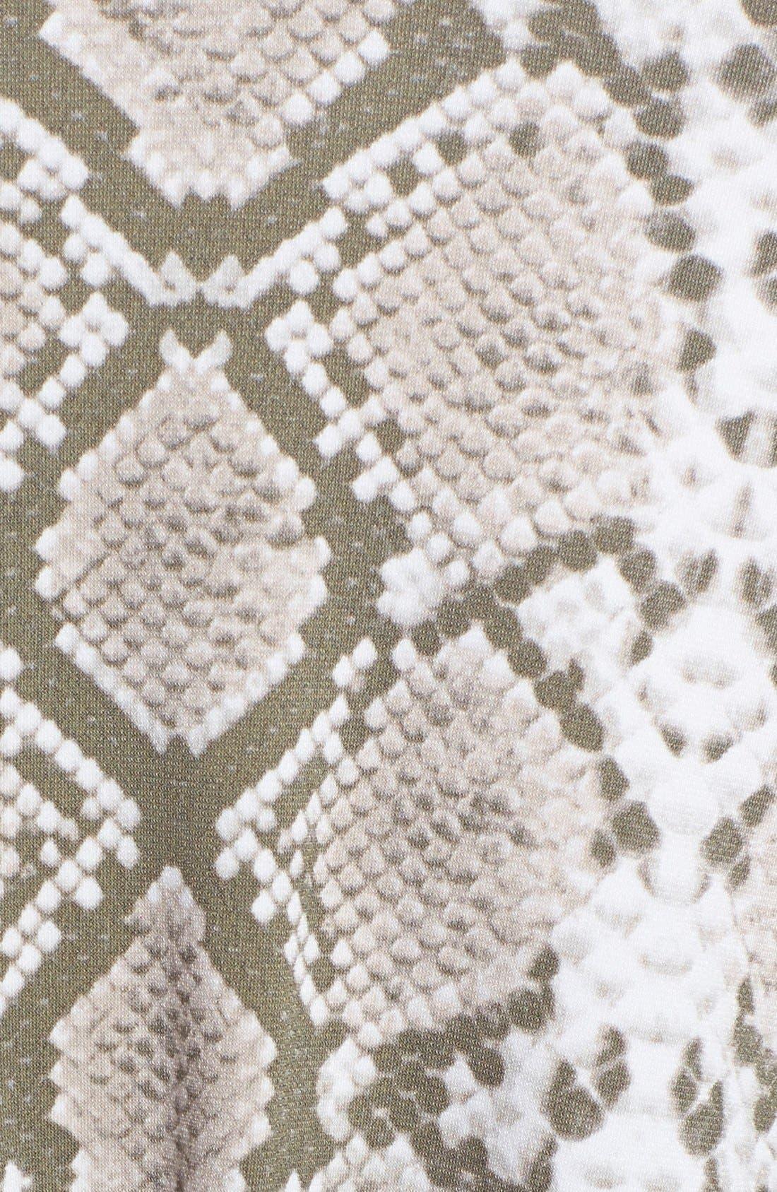 VINCE CAMUTO, Snake Print Satin Maxi Dress, Alternate thumbnail 3, color, 250