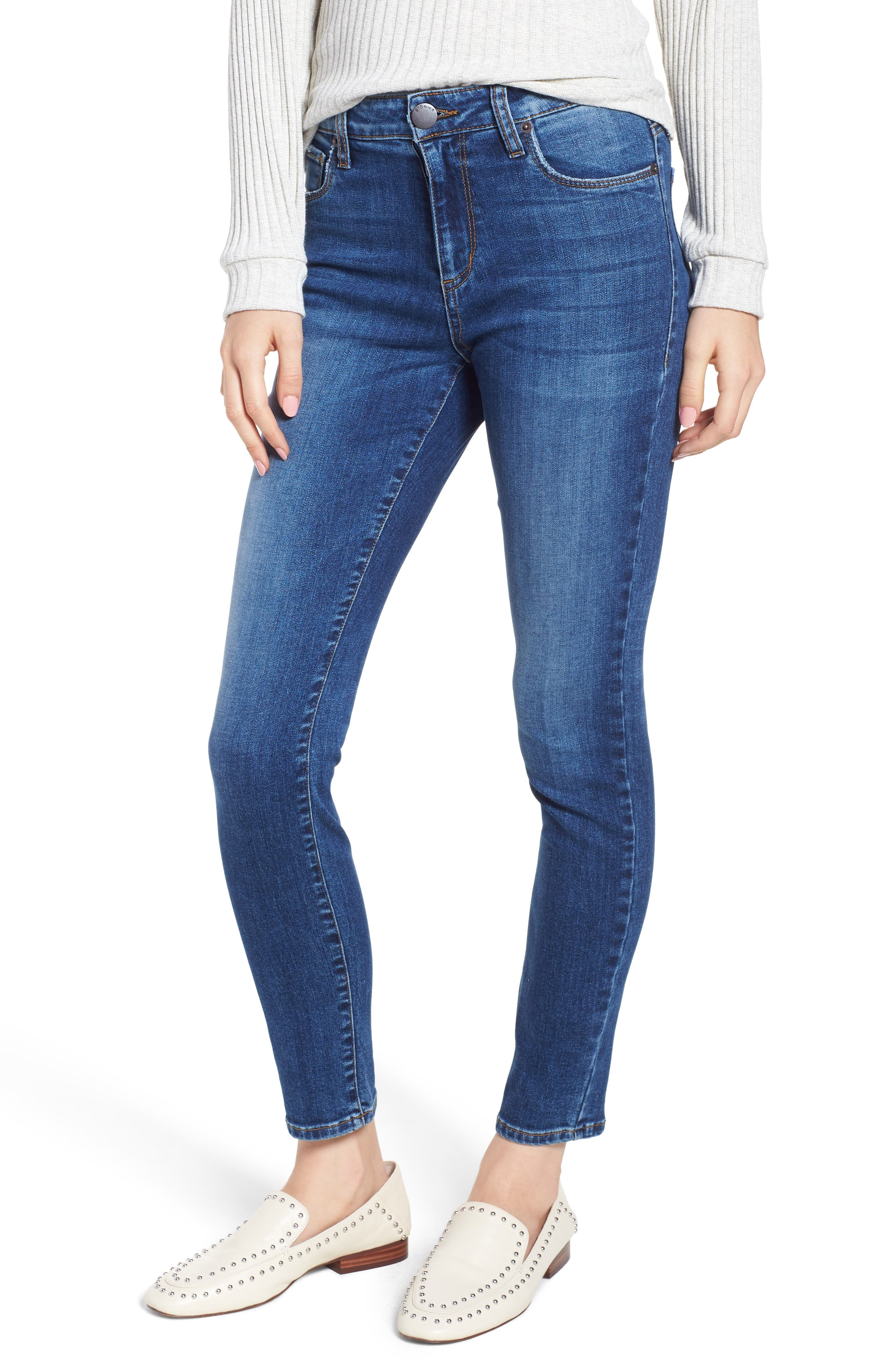STS BLUE, Emma High Waist Ankle Skinny Jeans, Main thumbnail 1, color, MERRYL