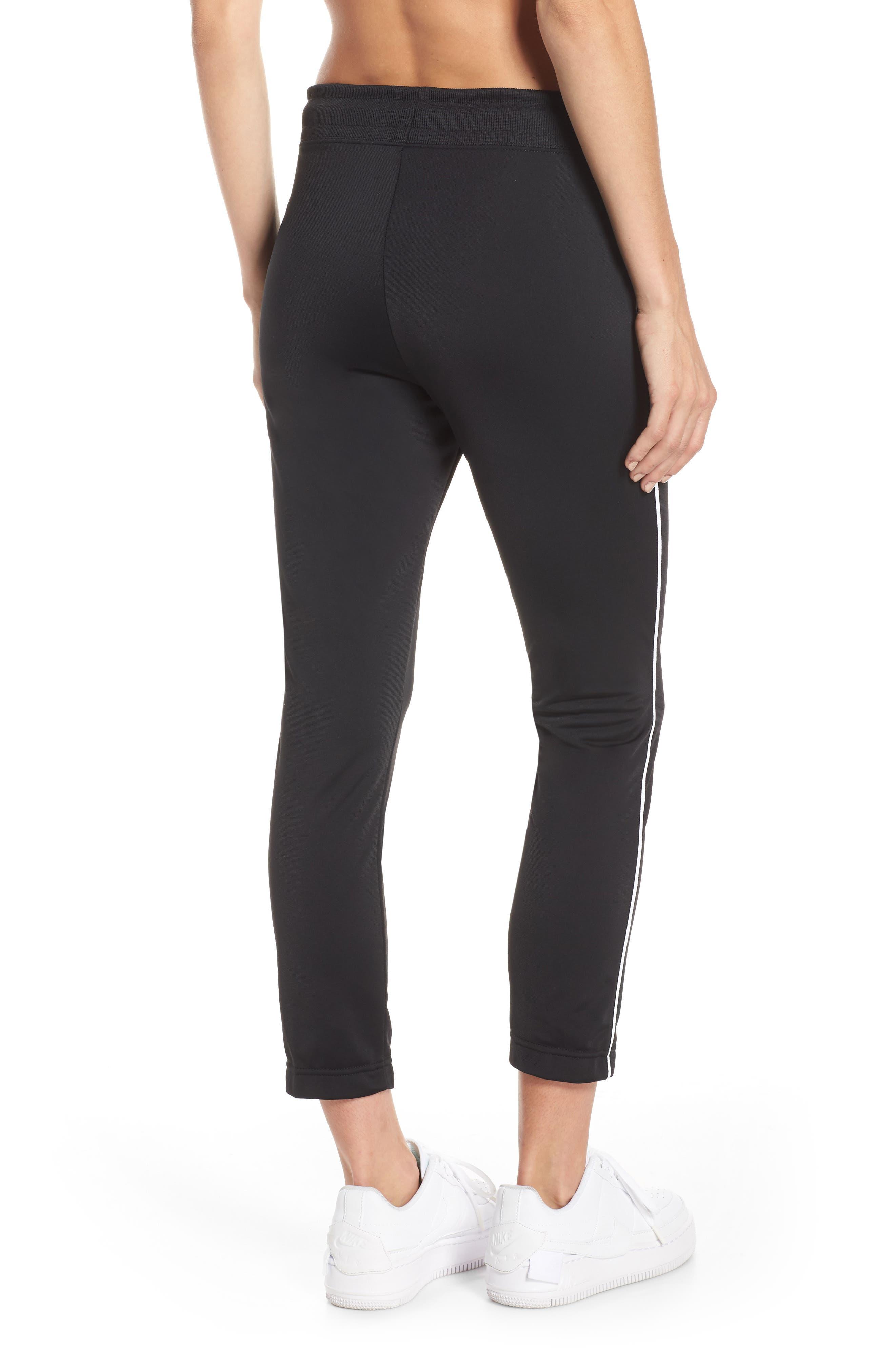 NIKE, NSW Slim Crop Pants, Alternate thumbnail 2, color, BLACK/ WHITE/ WHITE
