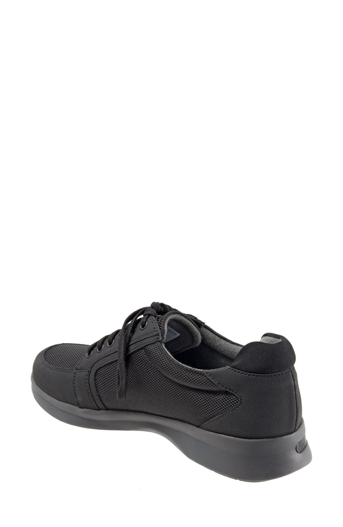 SOFTWALK<SUP>®</SUP>, 'Vital' Sneaker, Alternate thumbnail 2, color, BLACK